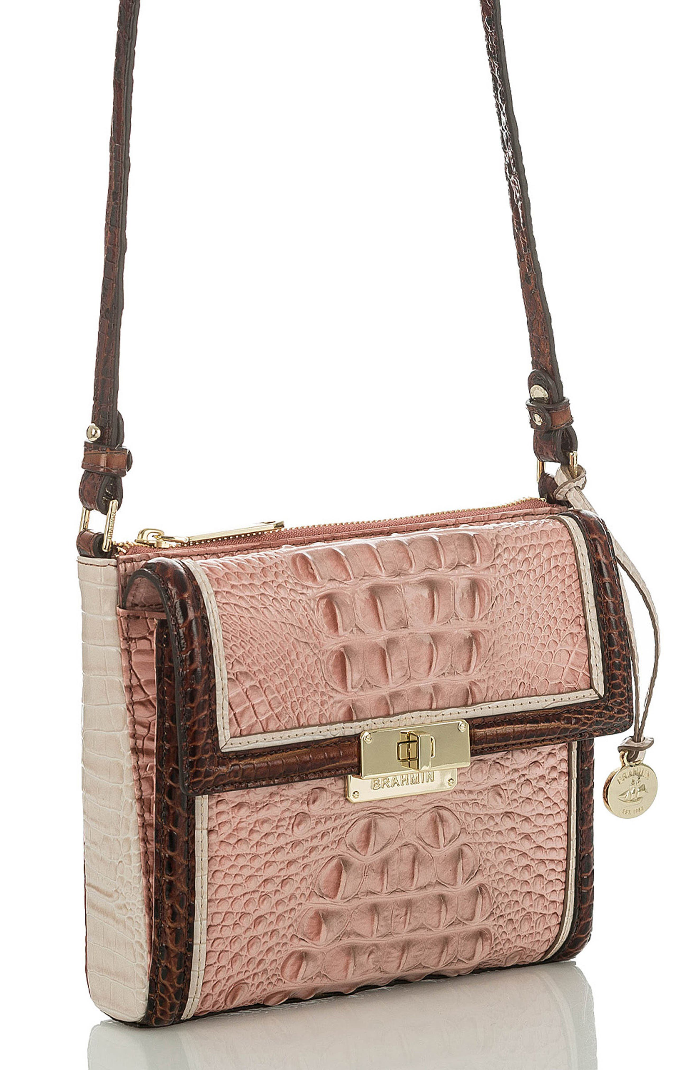 Marquis Chambery - Manhattan Croc Embossed Leather Crossbody Bag,                             Alternate thumbnail 4, color,