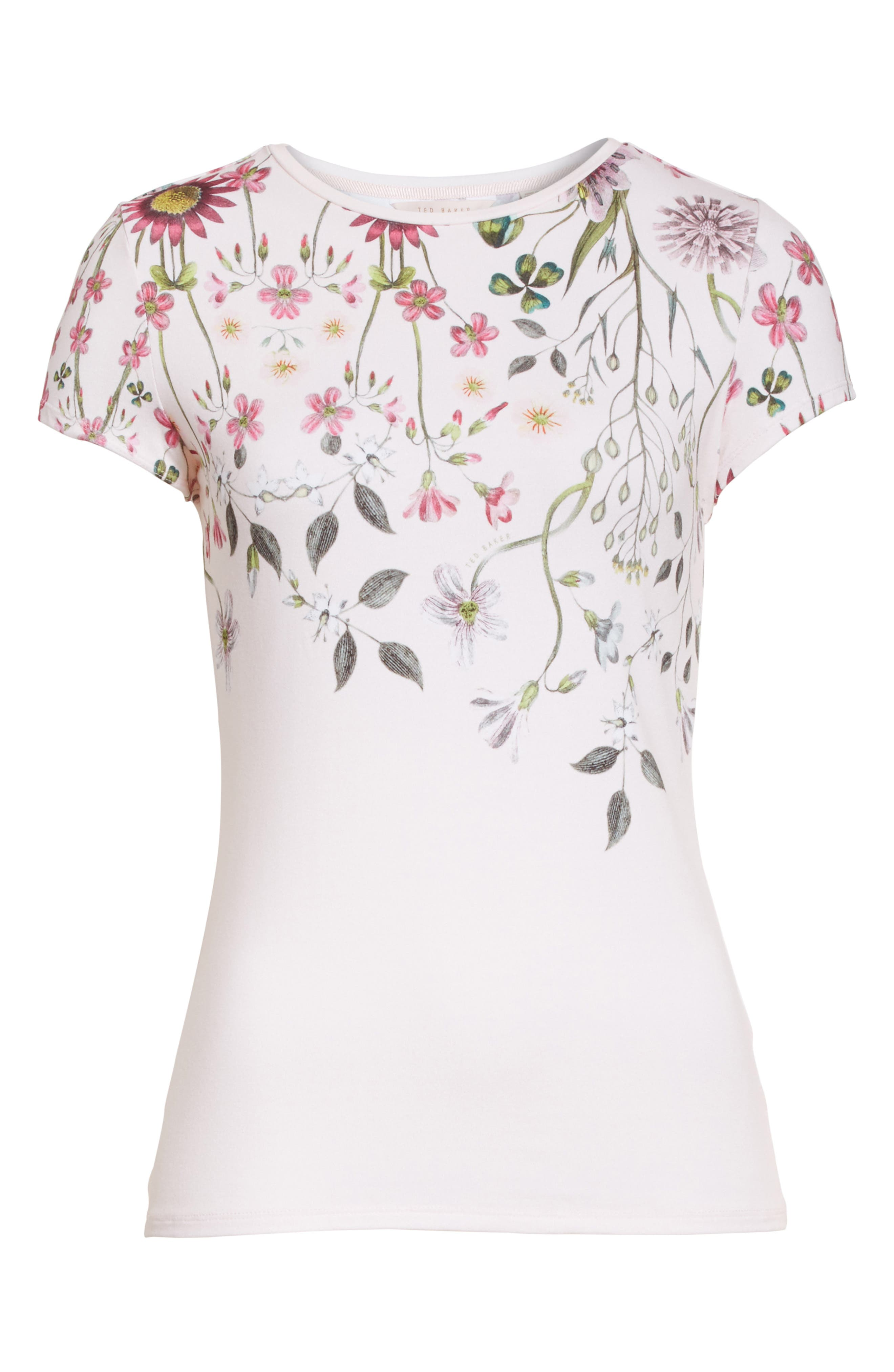 Ebone Unity Floral Fitted Tee,                             Alternate thumbnail 6, color,                             672