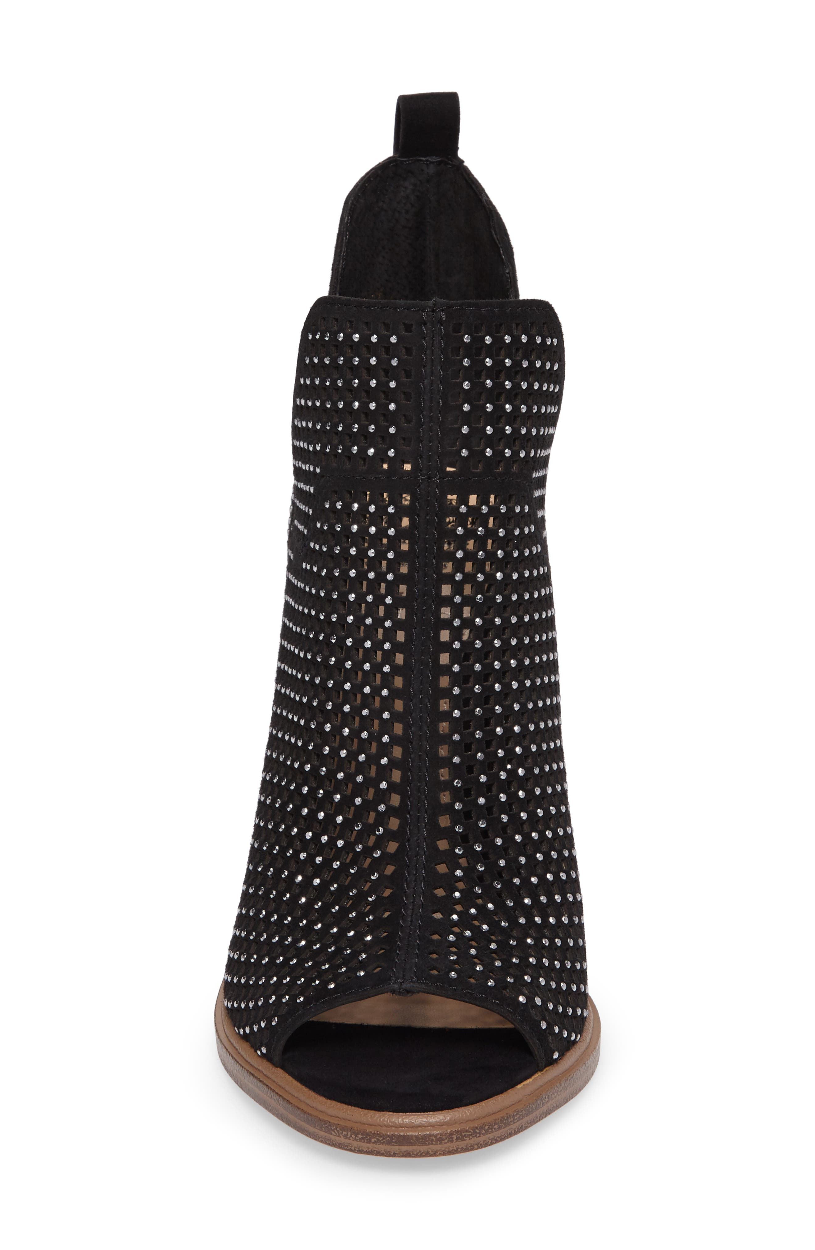 VINCE CAMUTO,                             Kiminni Open Toe Bootie,                             Alternate thumbnail 4, color,                             001