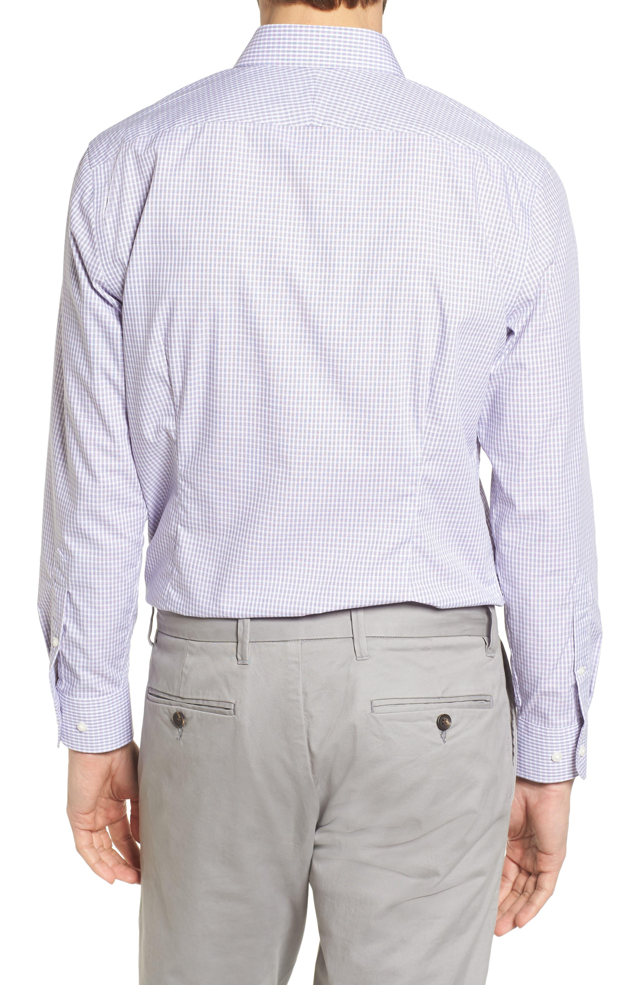 Extra Trim Fit Non-Iron Check Dress Shirt,                             Alternate thumbnail 8, color,