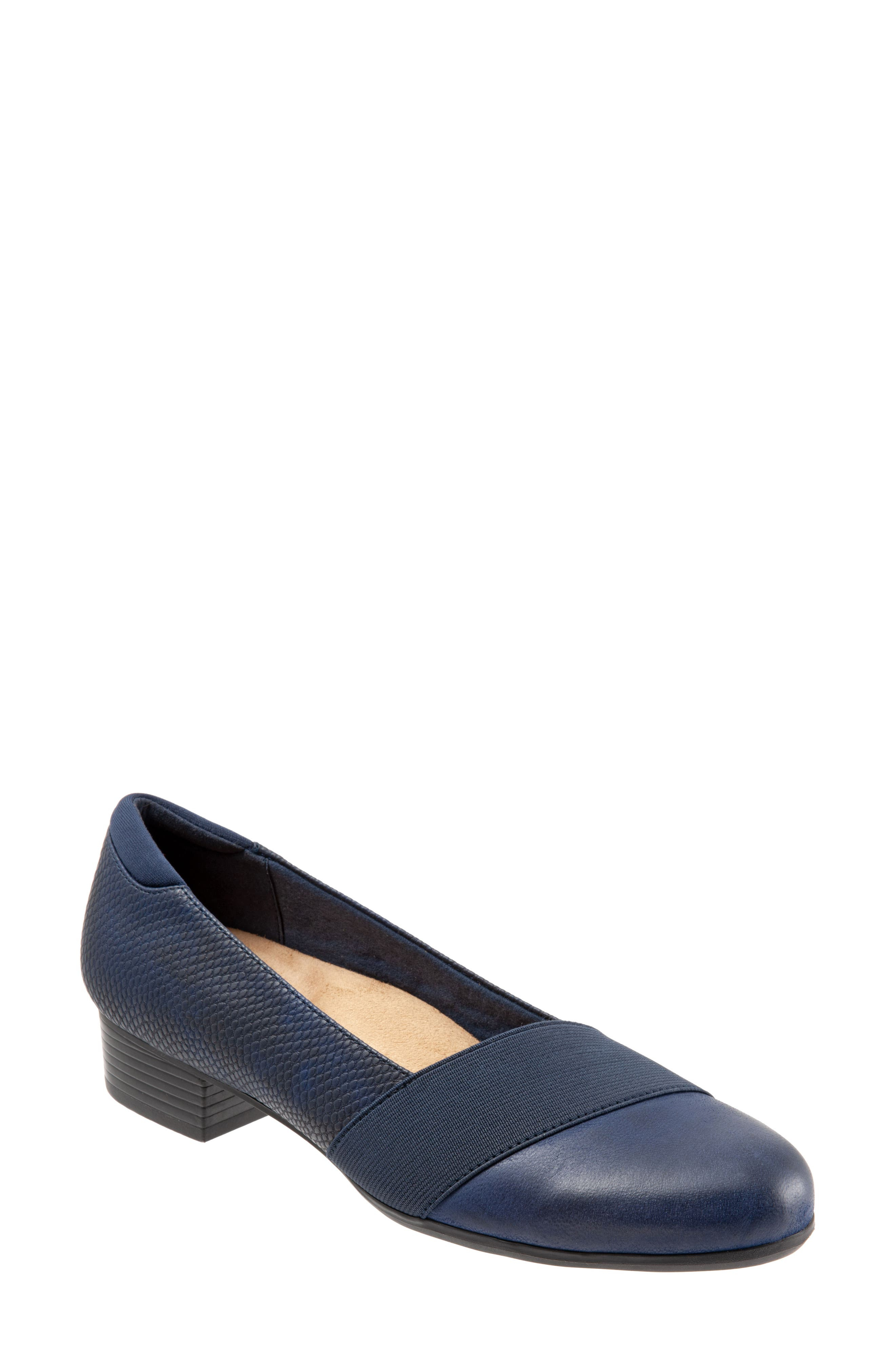 TROTTERS,                             Melinda Loafer,                             Main thumbnail 1, color,                             NAVY LEATHER