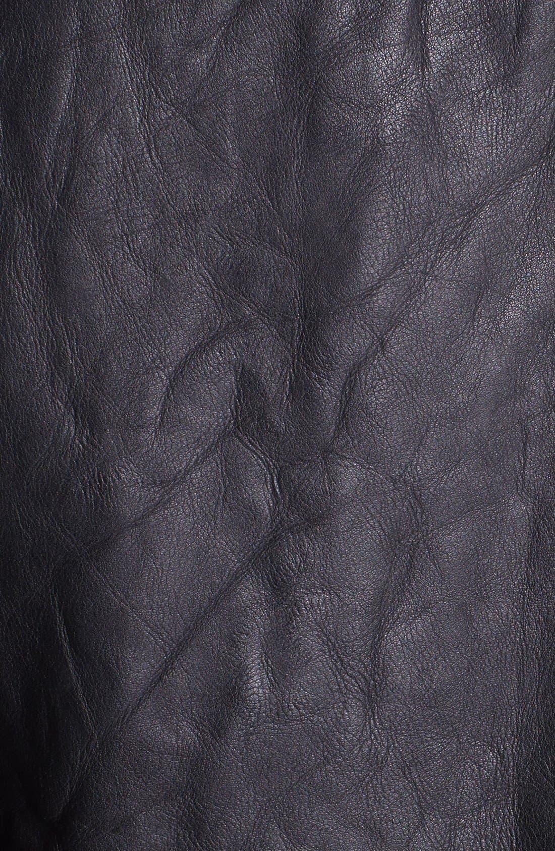 'Crosstown' Leather Biker Jacket,                             Alternate thumbnail 3, color,                             001