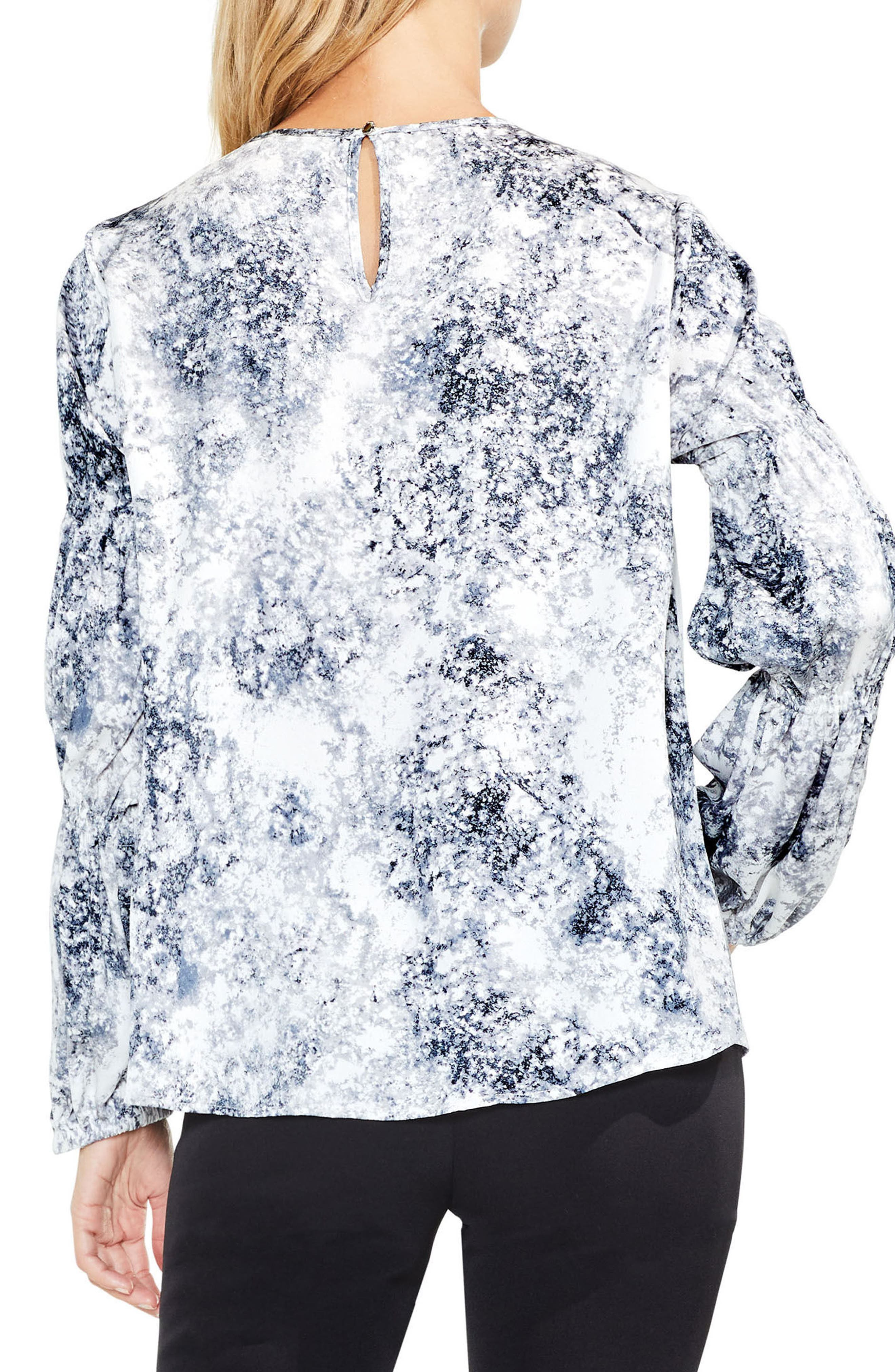 Speckled Cinch Sleeve Top,                             Alternate thumbnail 2, color,                             108