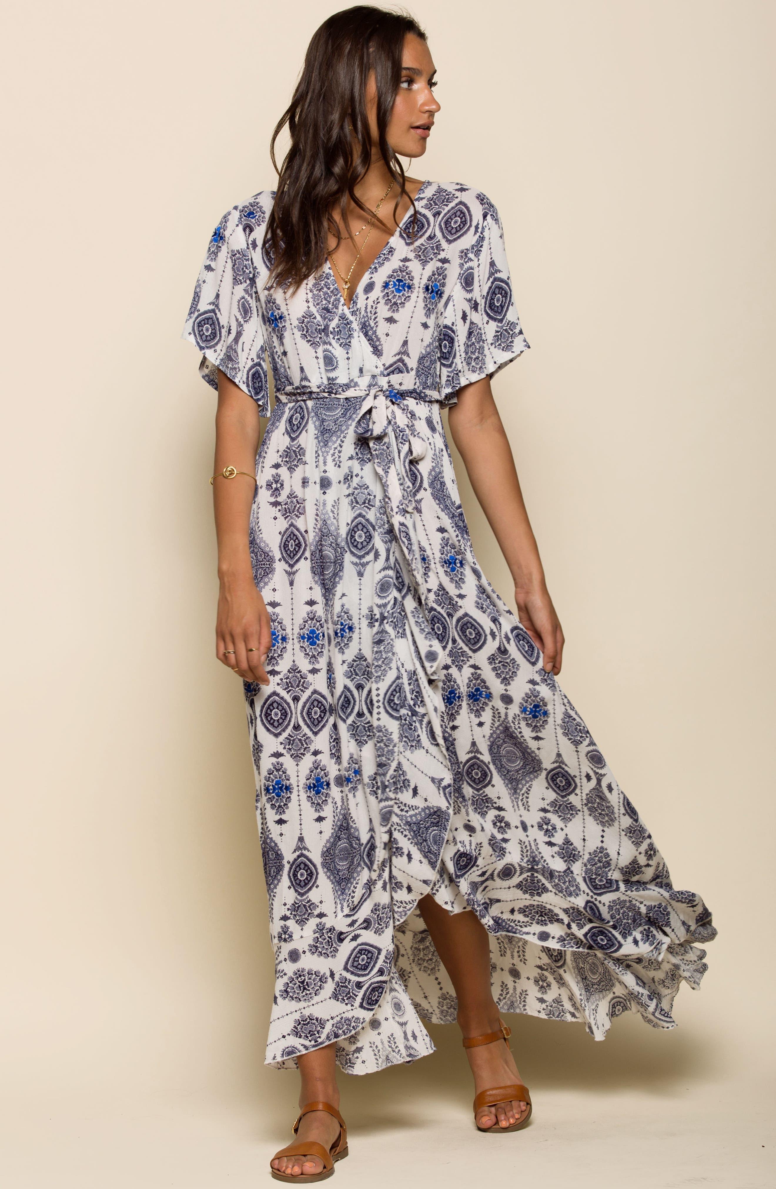 Andrea Maxi Dress,                             Alternate thumbnail 8, color,                             400