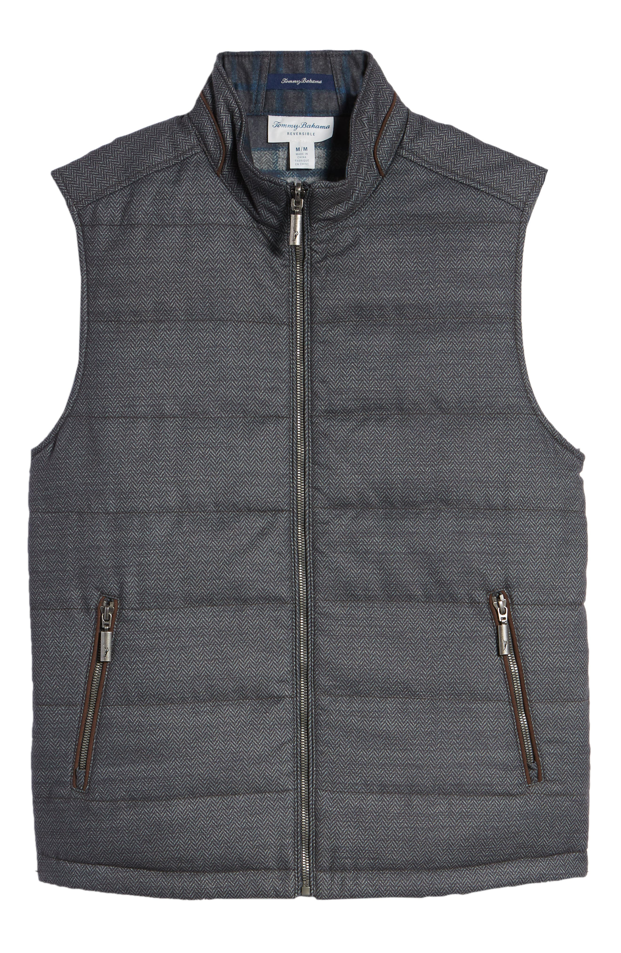 Dublin Duo Reversible Quilted Vest,                             Alternate thumbnail 6, color,                             SHADOW