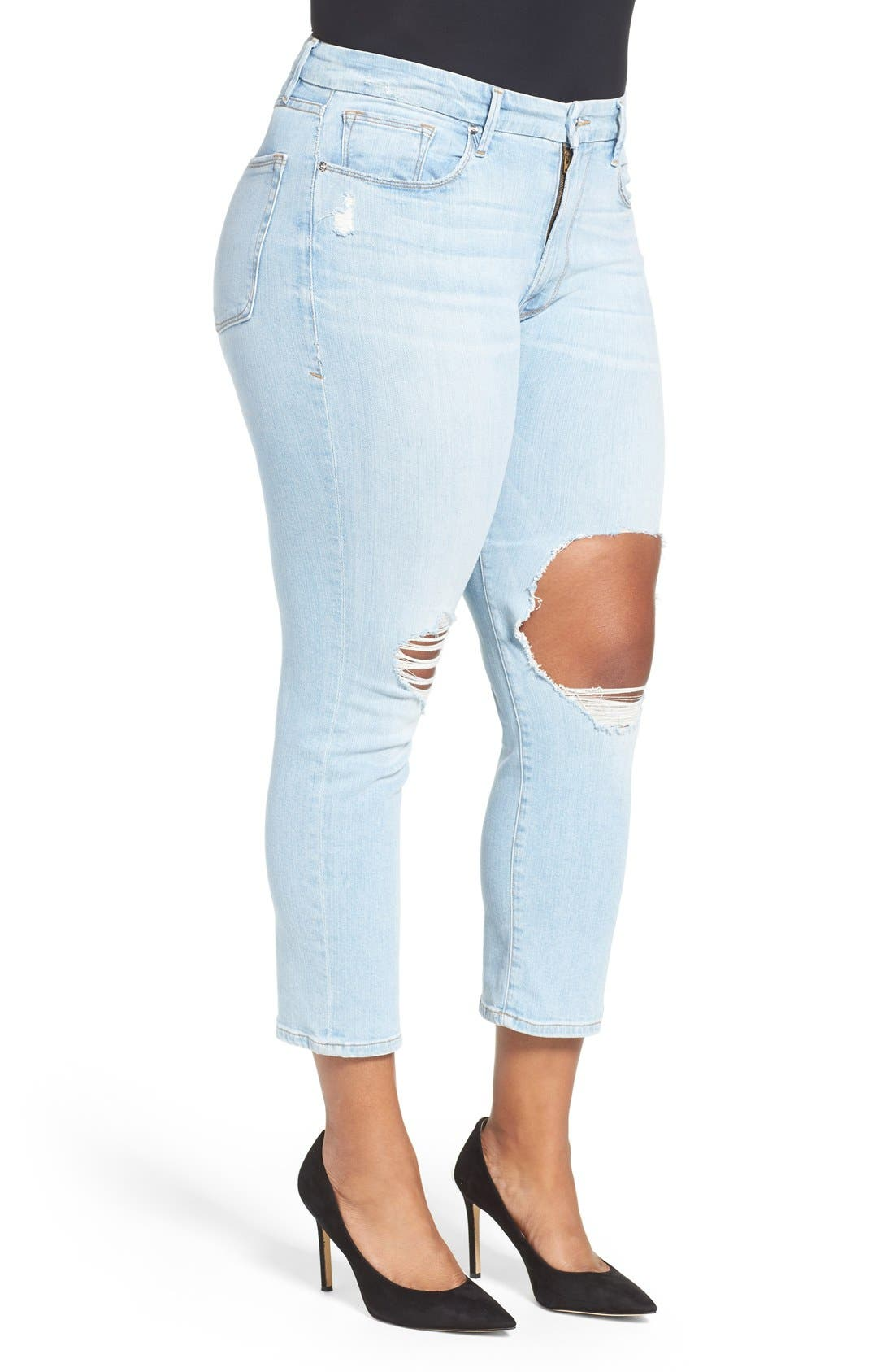 Good Cuts High Rise Boyfriend Jeans,                             Alternate thumbnail 6, color,                             401