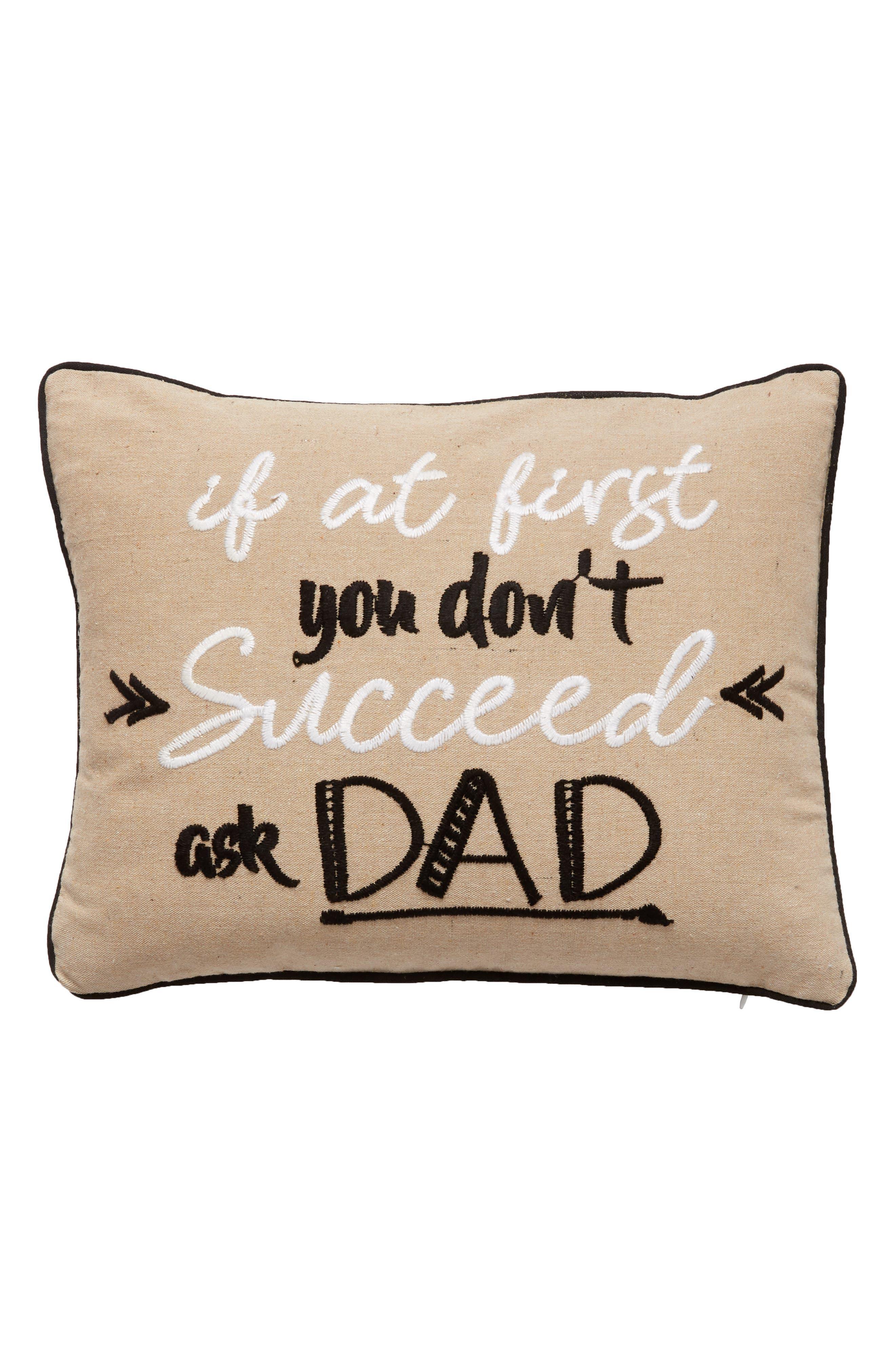 Ask Dad Accent Pillow,                             Main thumbnail 1, color,                             250