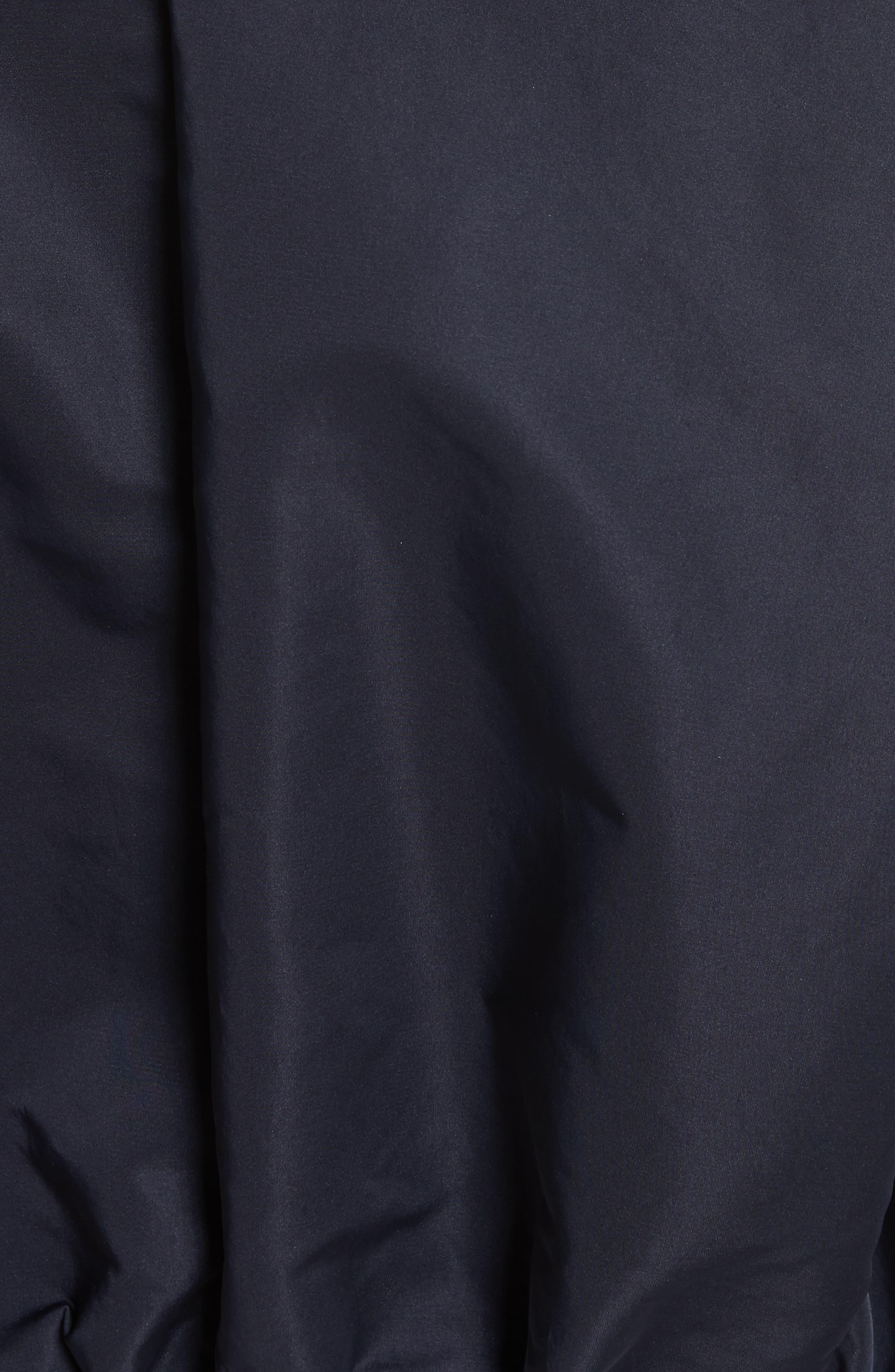 Zirconite Crop Hooded Coat,                             Alternate thumbnail 7, color,                             NAVY