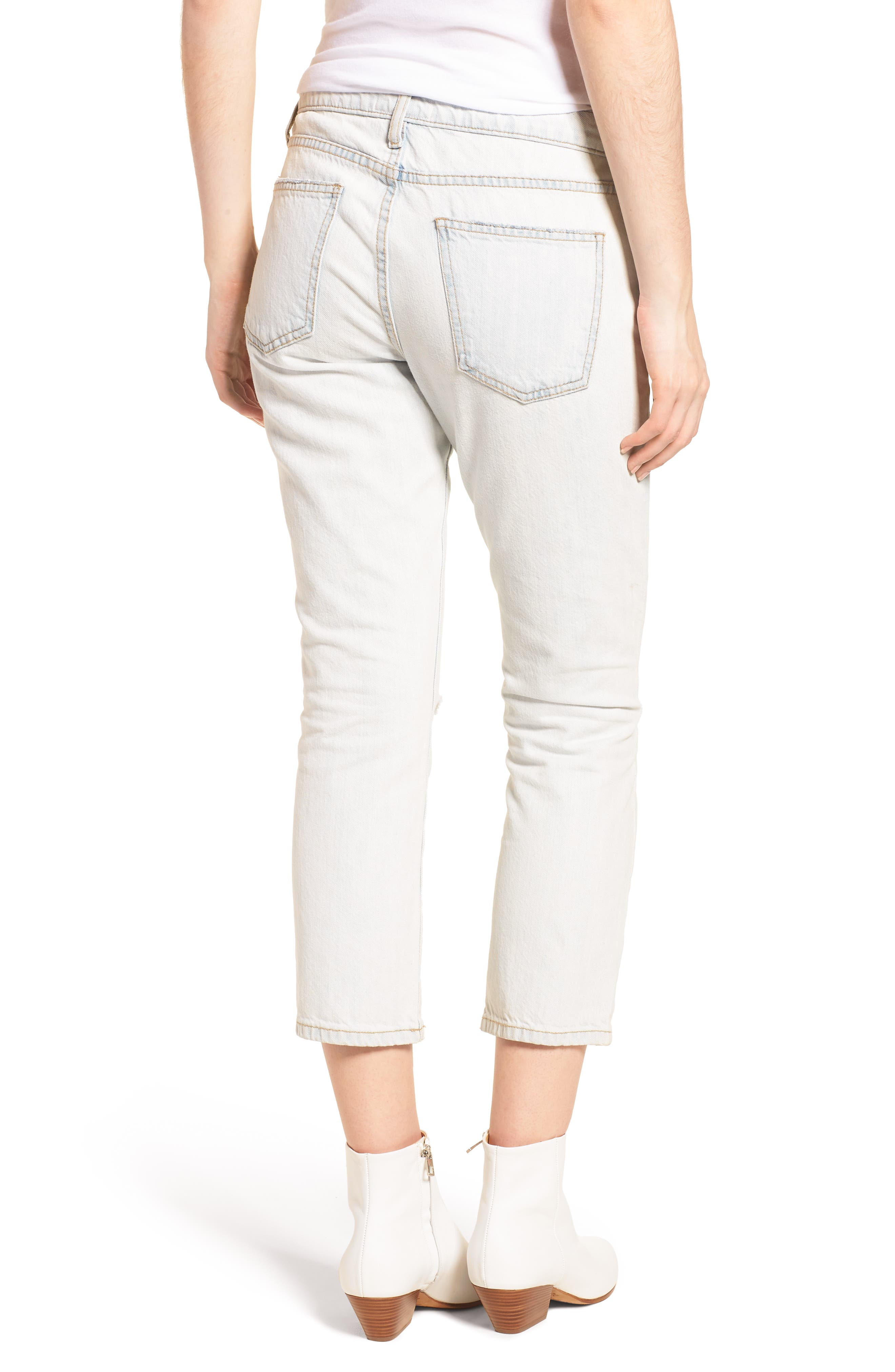 The Cropped Straight Leg Jeans,                             Alternate thumbnail 2, color,                             471