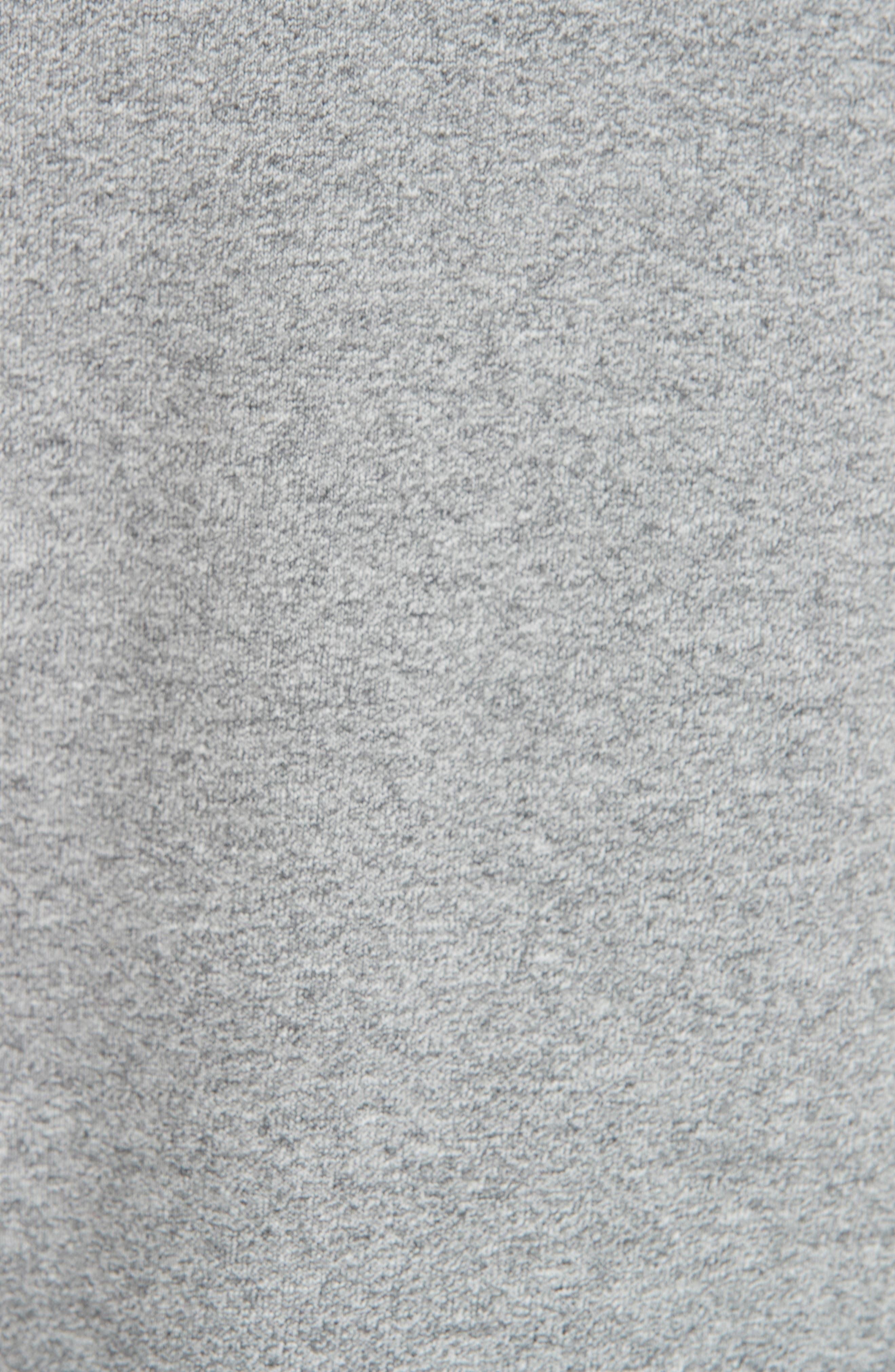 rag & bone Best Sweatshirt,                             Alternate thumbnail 5, color,                             HEATHER GREY