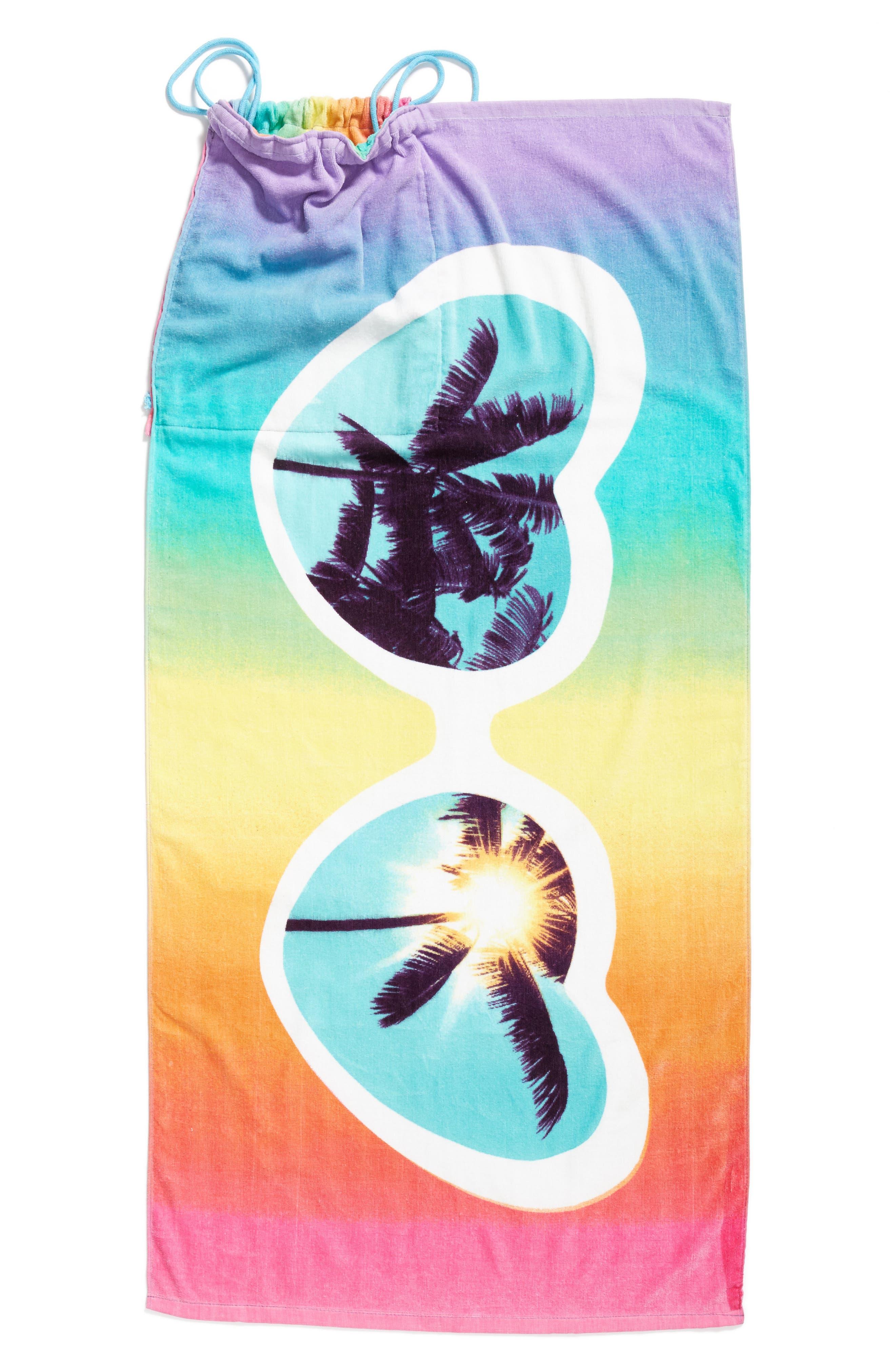 Heart Sunnies Towel Backpack,                             Alternate thumbnail 5, color,                             475
