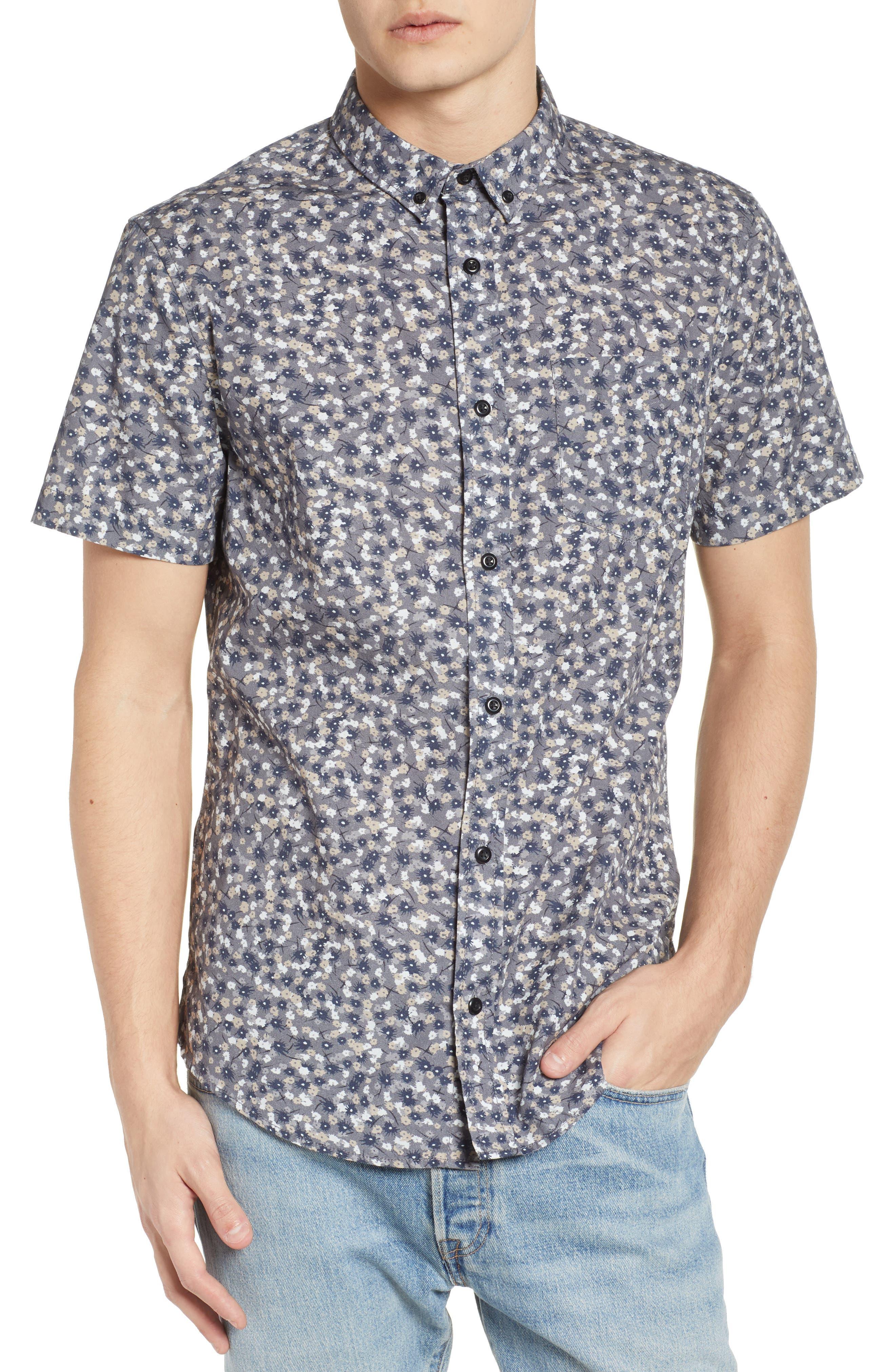 Printed Cotton Poplin Shirt,                         Main,                         color, 030
