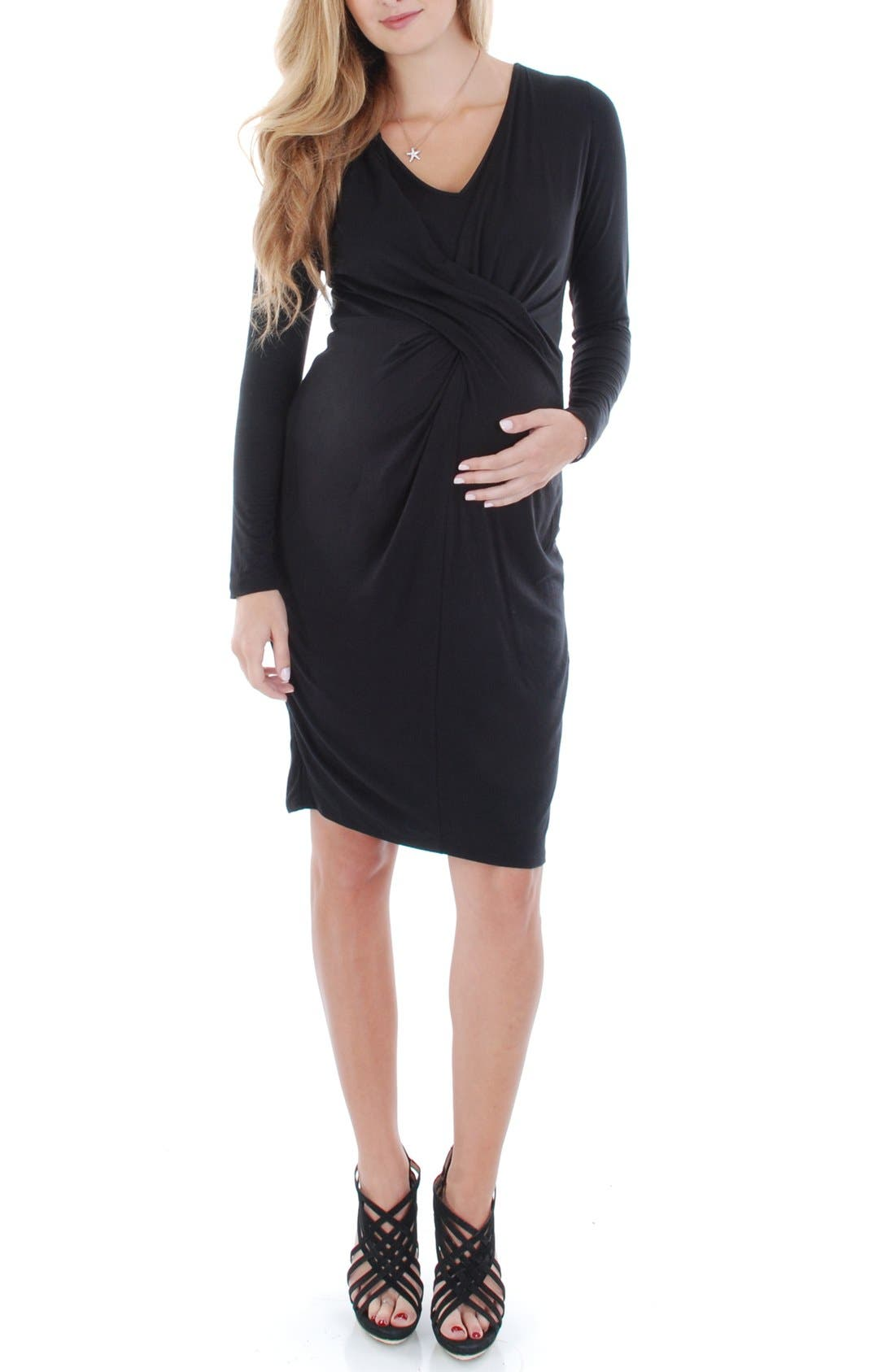 'Sloan' Maternity/Nursing Dress,                             Main thumbnail 1, color,                             001