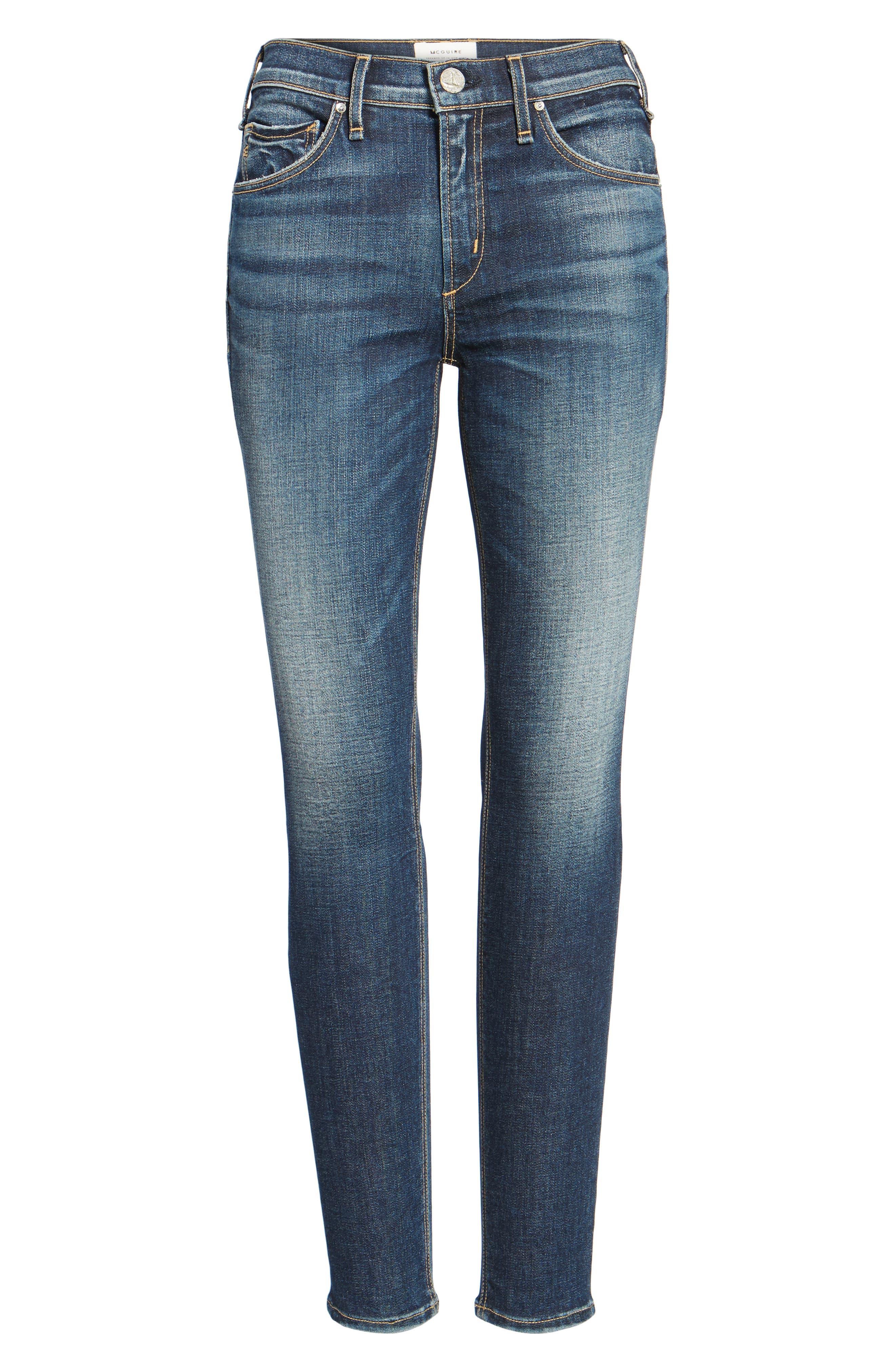 Newton High Waist Skinny Jeans,                             Alternate thumbnail 6, color,                             420