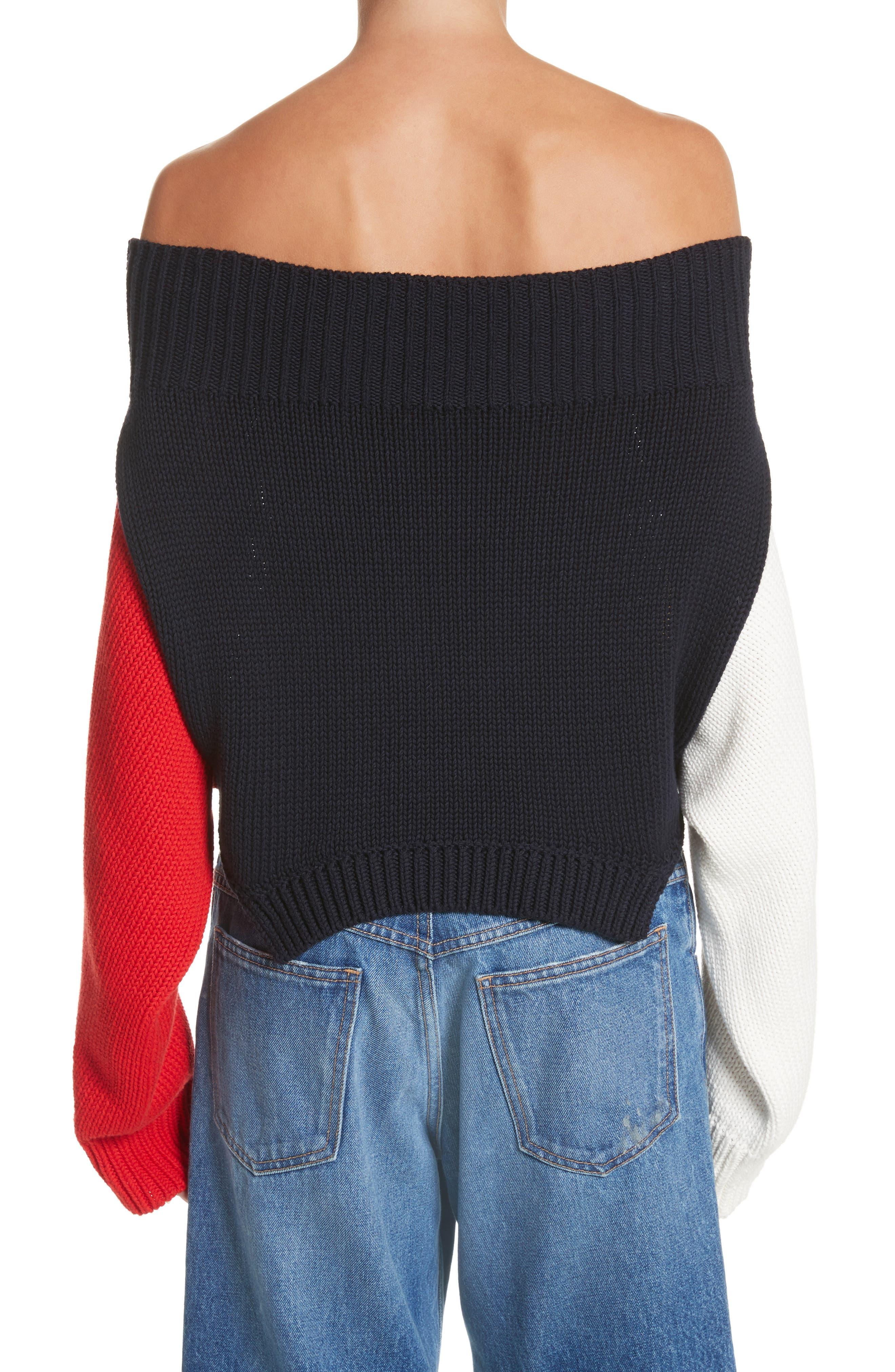 Varsity Upside Down Sweater,                             Alternate thumbnail 2, color,                             005