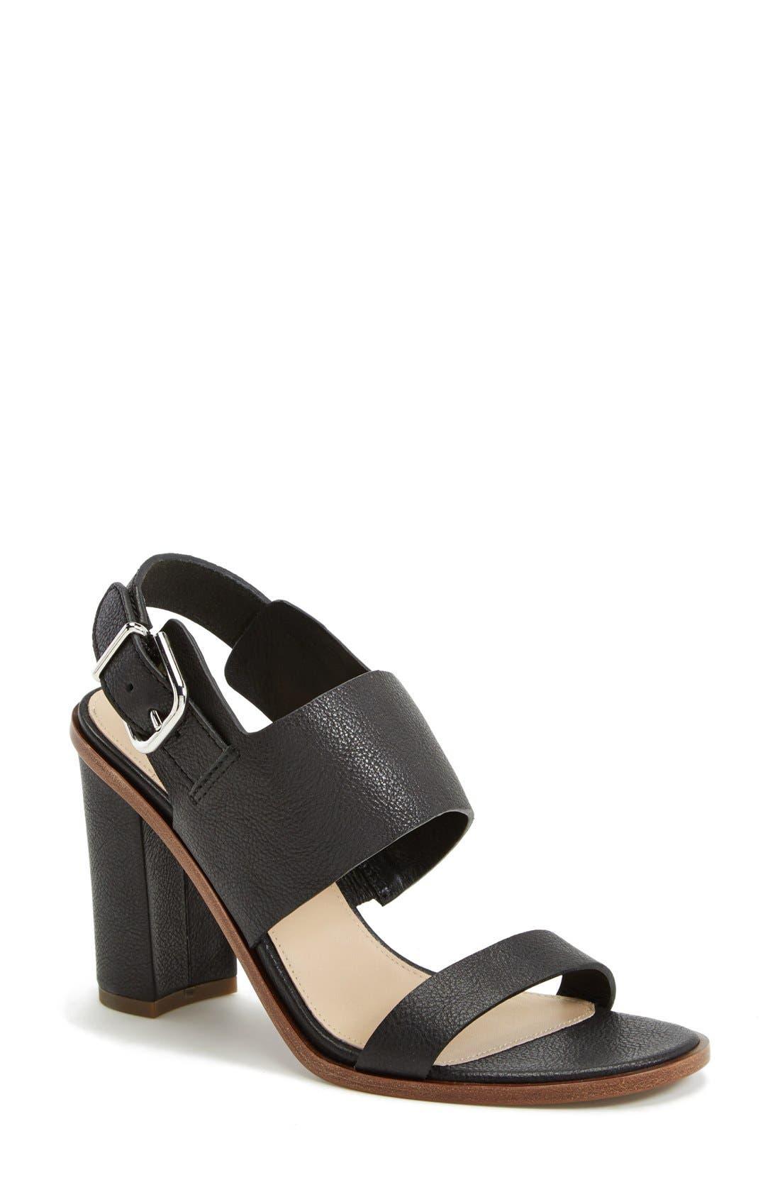 VIA SPIGA,                             'Baris' Leather Slingback Sandal,                             Main thumbnail 1, color,                             001