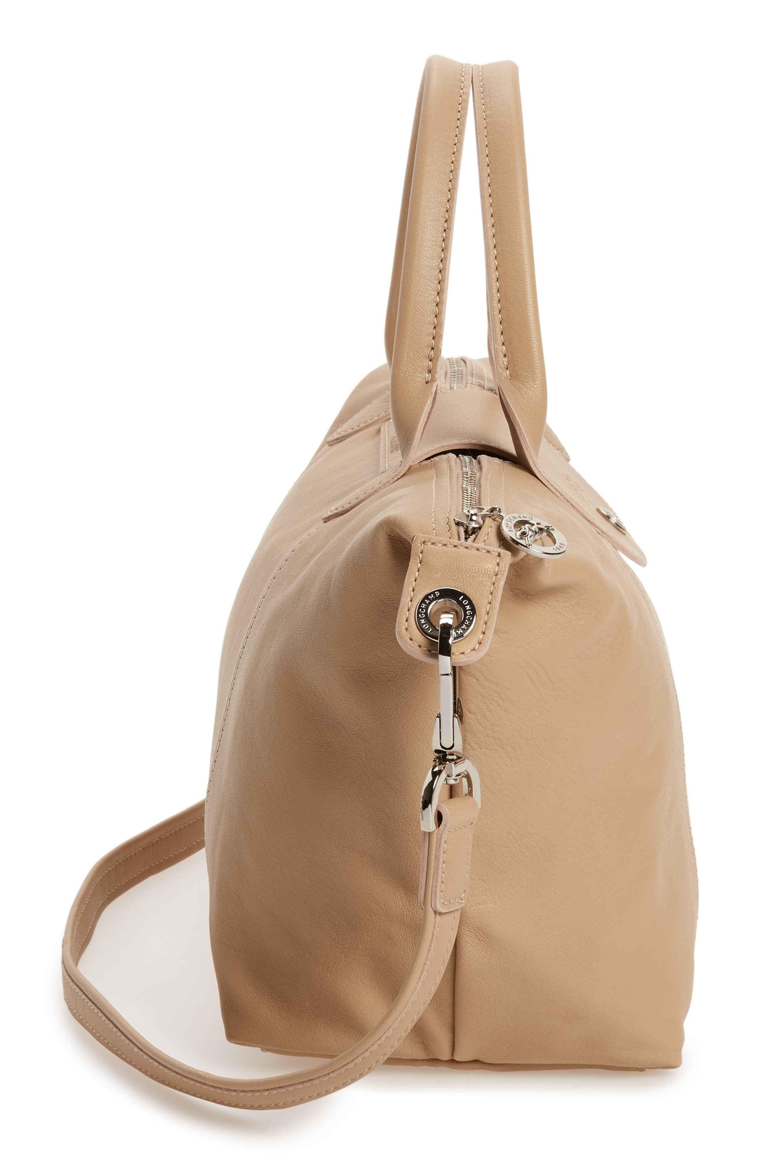 Small 'Le Pliage Cuir' Leather Top Handle Tote,                             Alternate thumbnail 72, color,