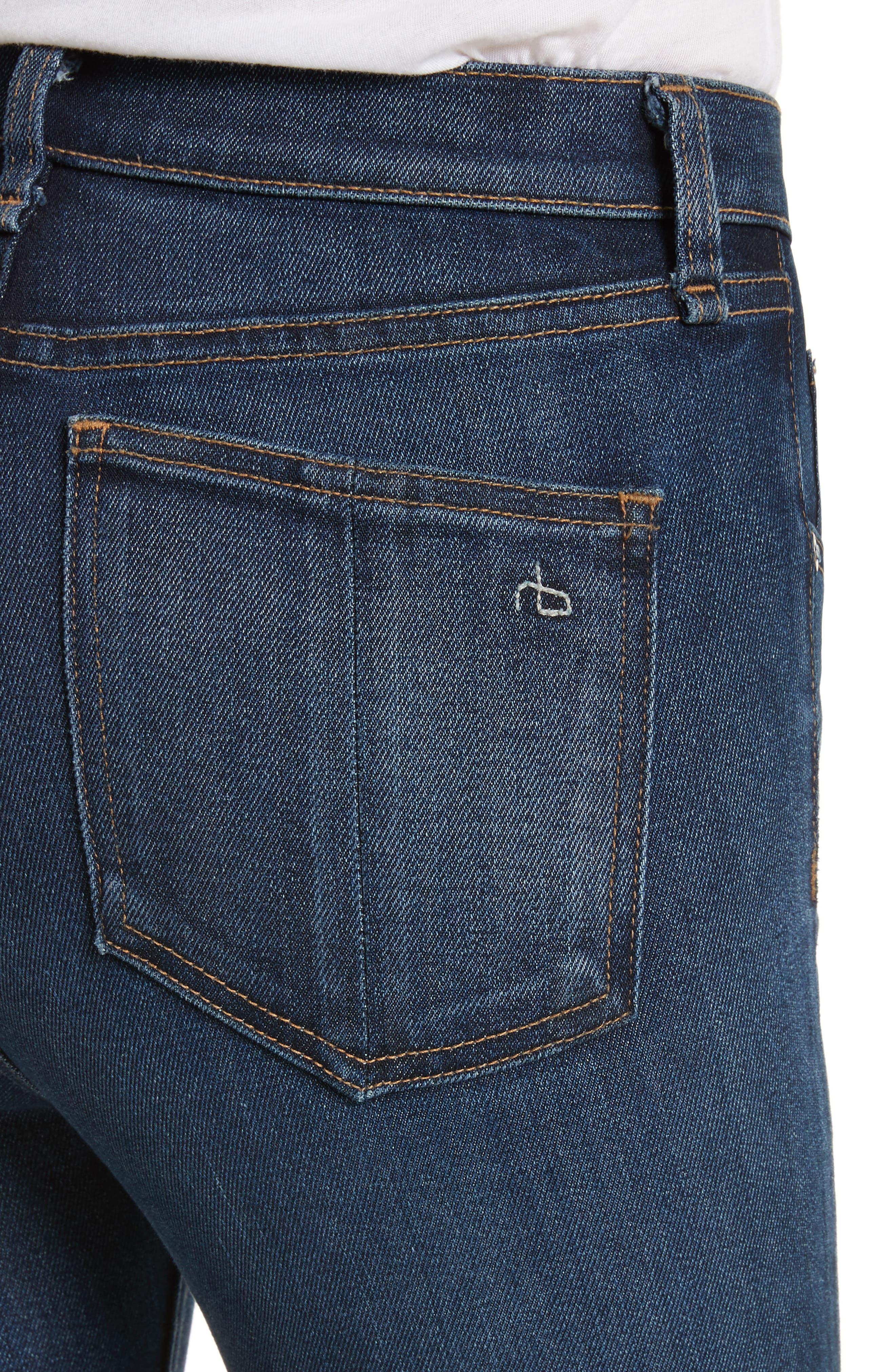 High Waist Skinny Jeans,                             Alternate thumbnail 4, color,                             404