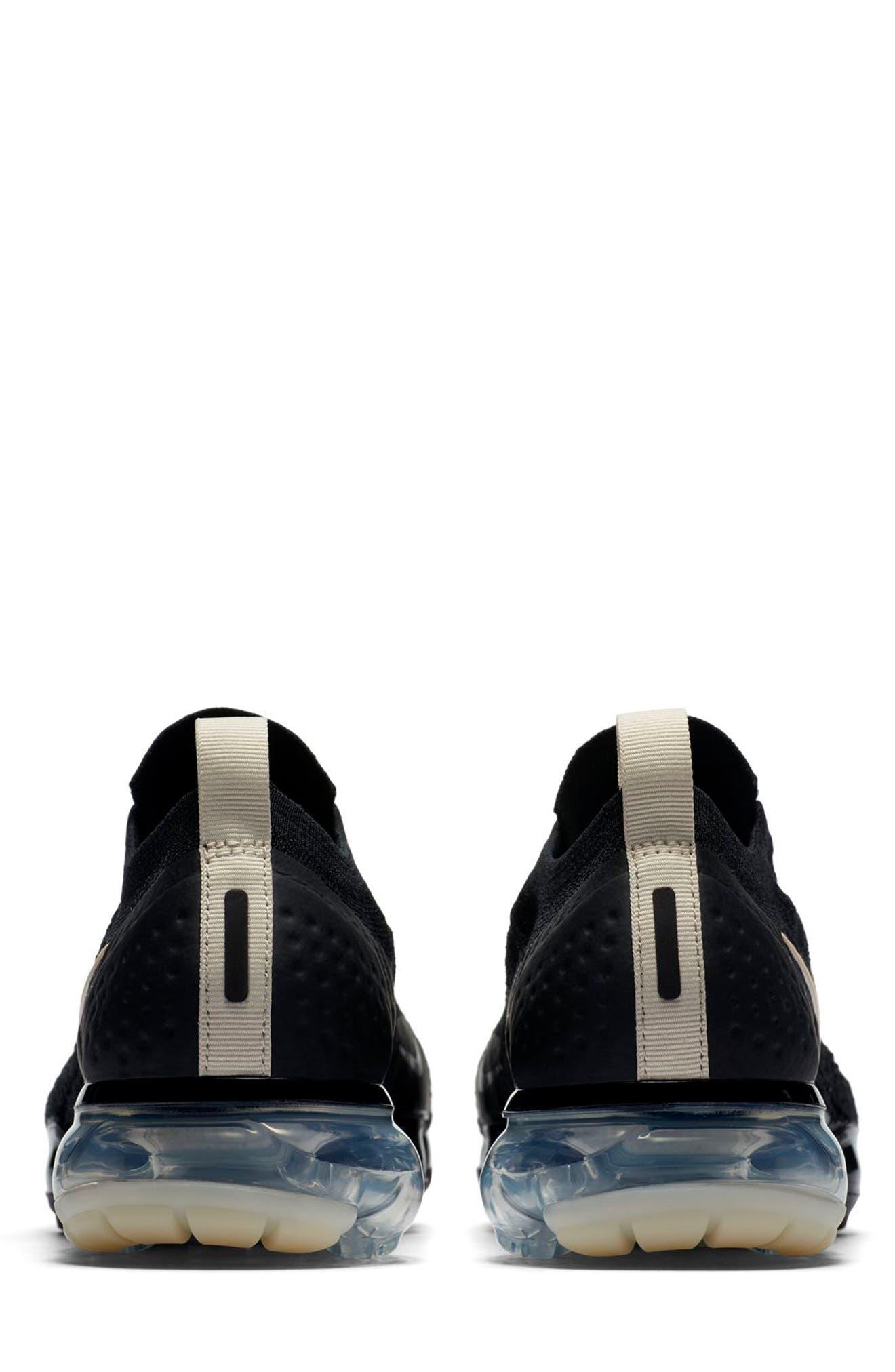 Air VaporMax Flyknit MOC 2 Running Shoe,                             Alternate thumbnail 2, color,                             BLACK