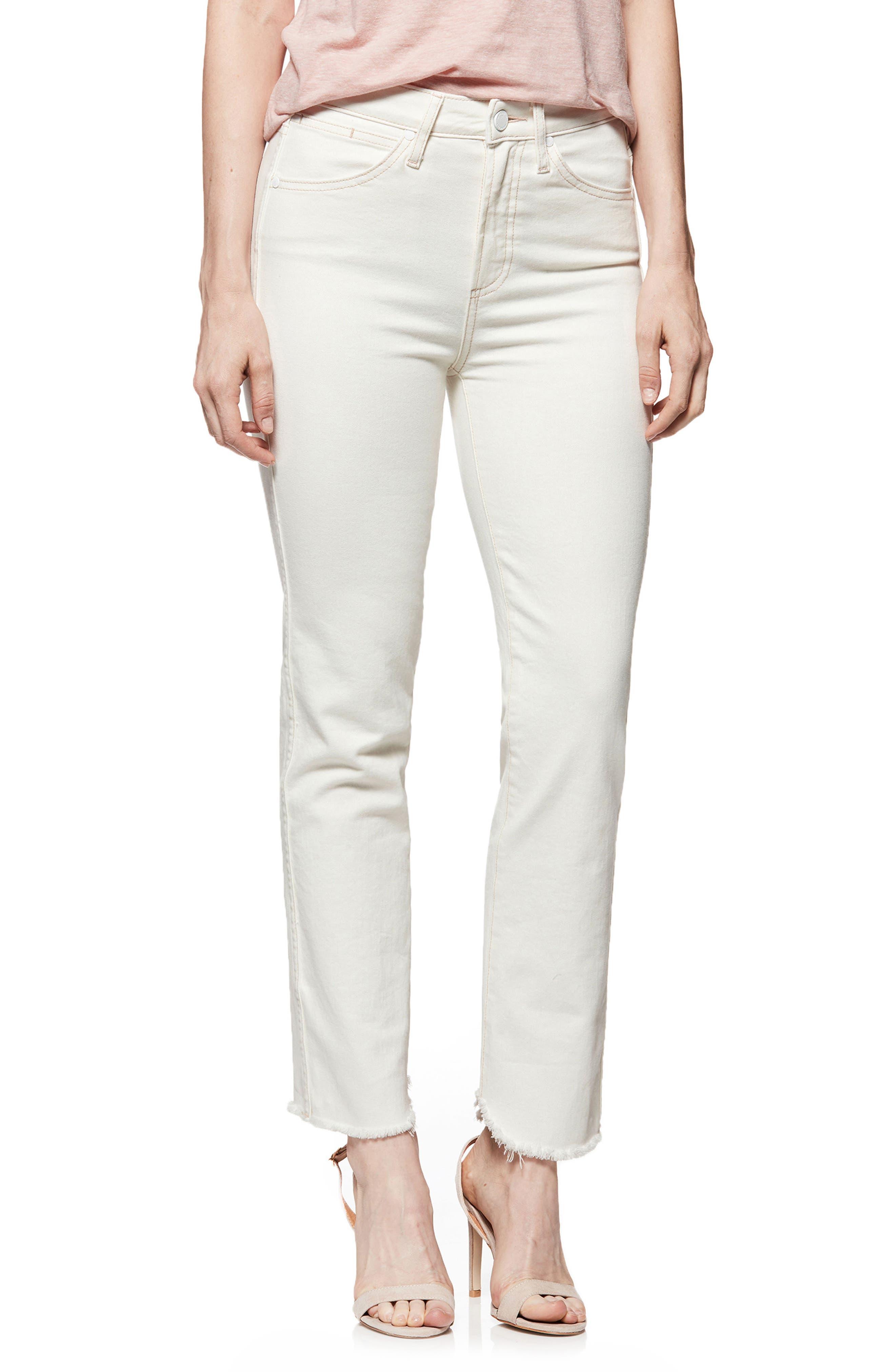 Hoxton High Waist Ankle Straight Jeans,                         Main,                         color, 901
