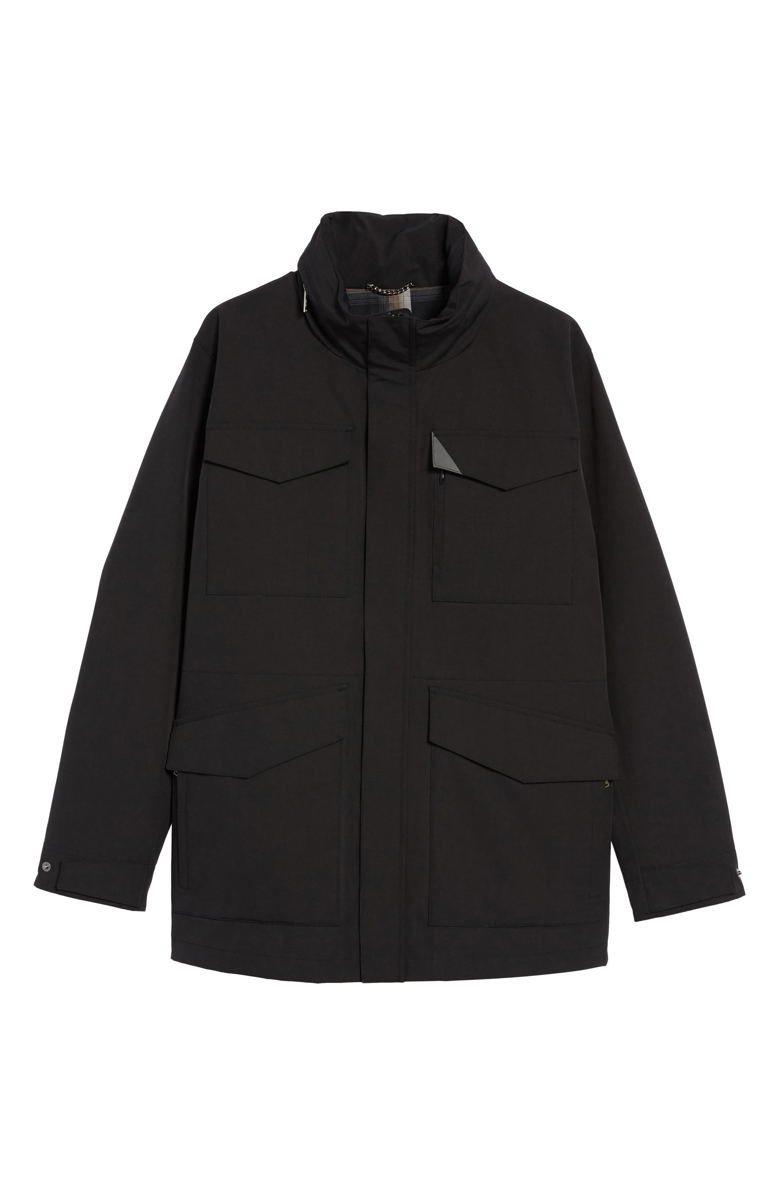 Clyde Hill Waterproof Field Jacket,                             Alternate thumbnail 5, color,                             001