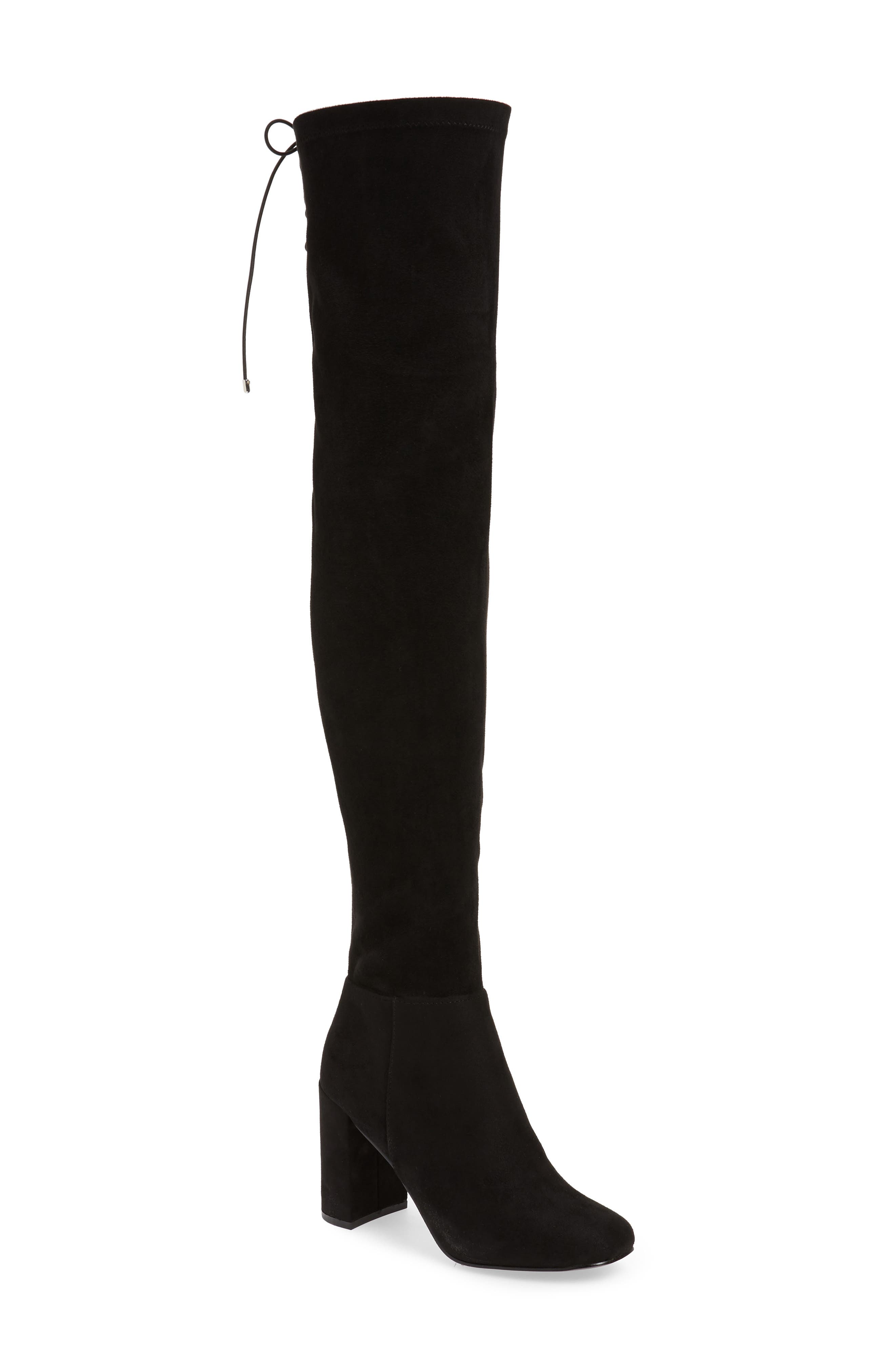 King Over the Knee Boot,                         Main,                         color, BLACK