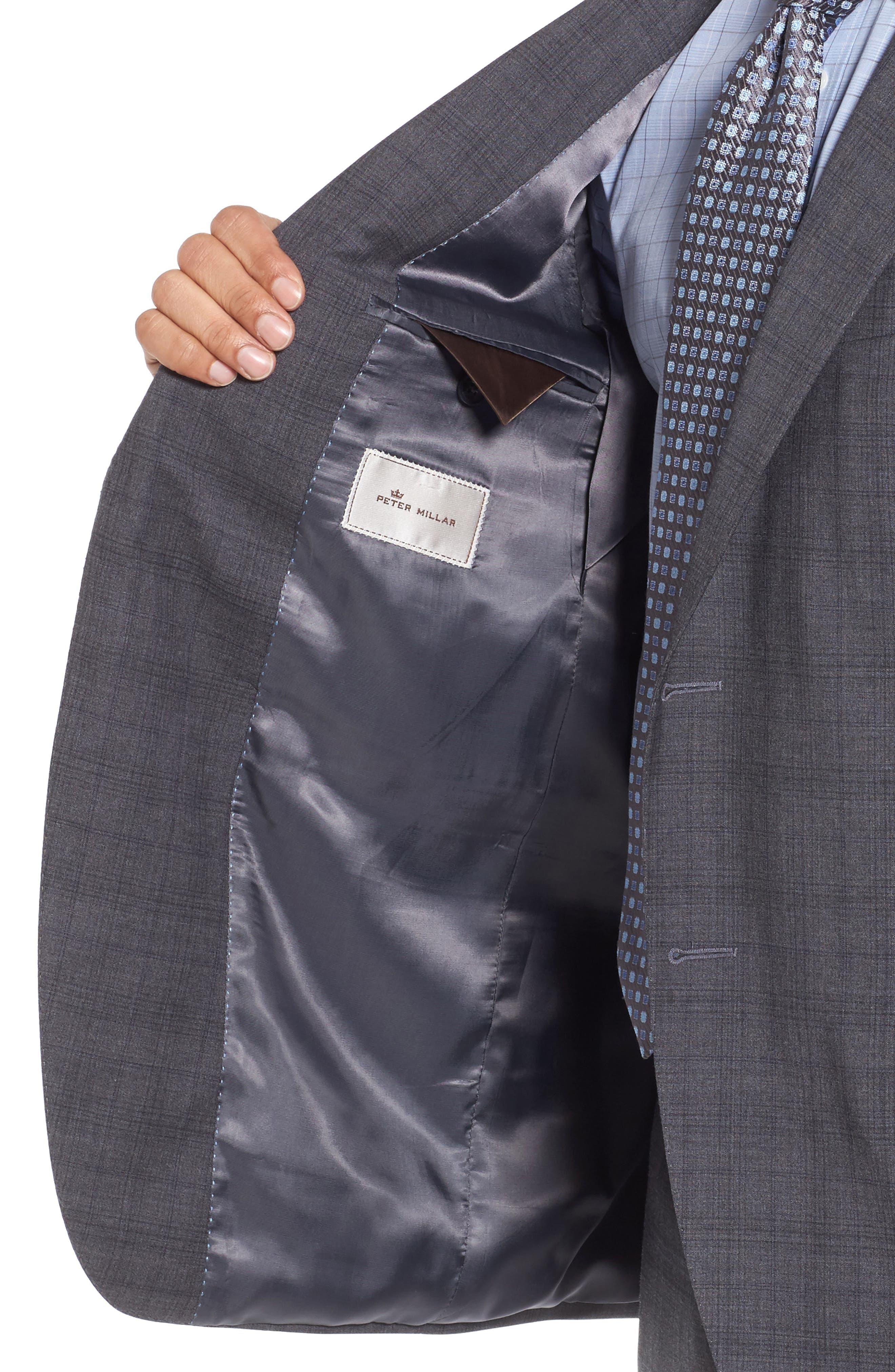 Classic Fit Plaid Wool Suit,                             Alternate thumbnail 4, color,                             020