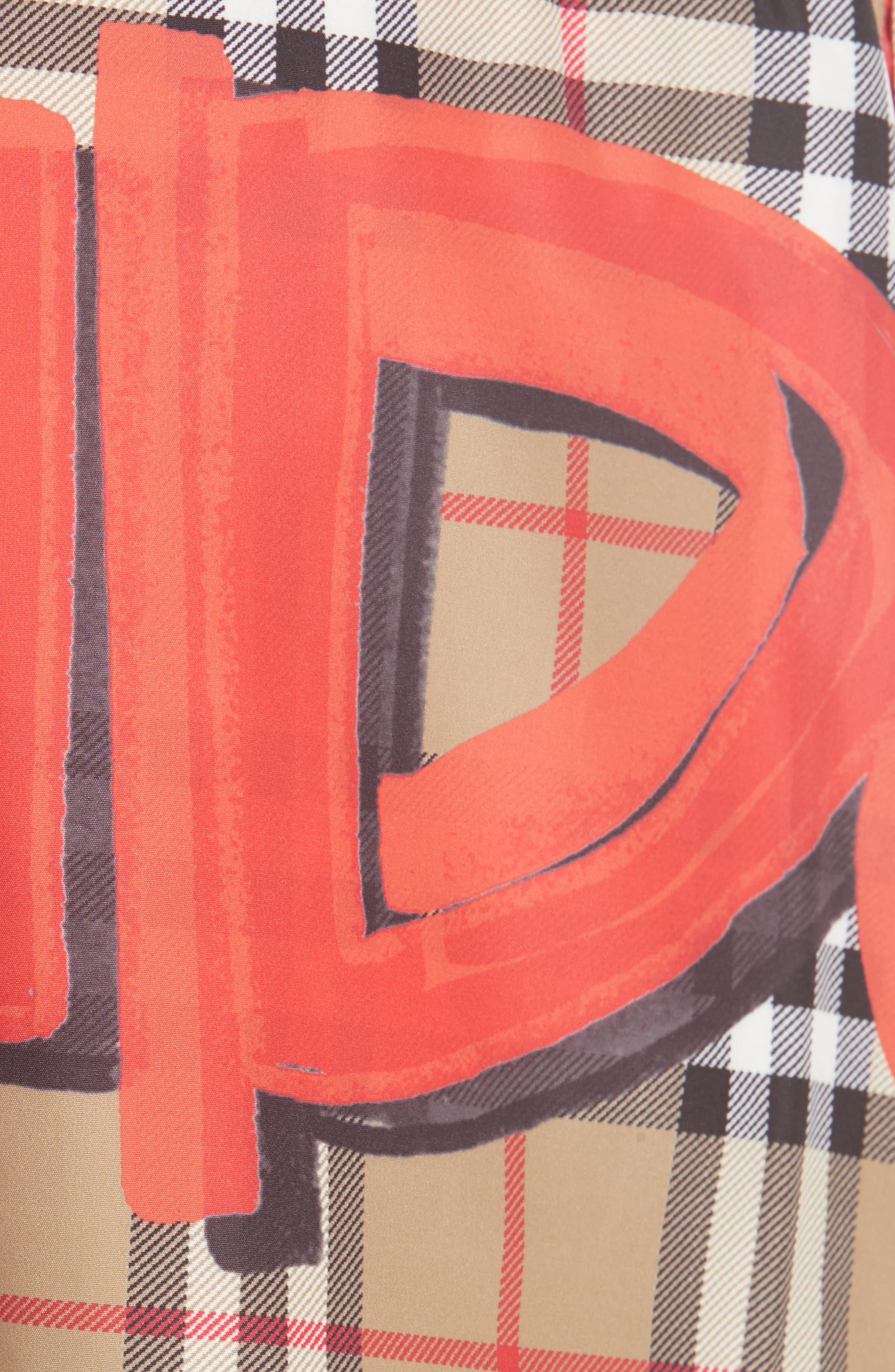 Guildes Graffiti Check Swim Trunks,                             Alternate thumbnail 5, color,                             600