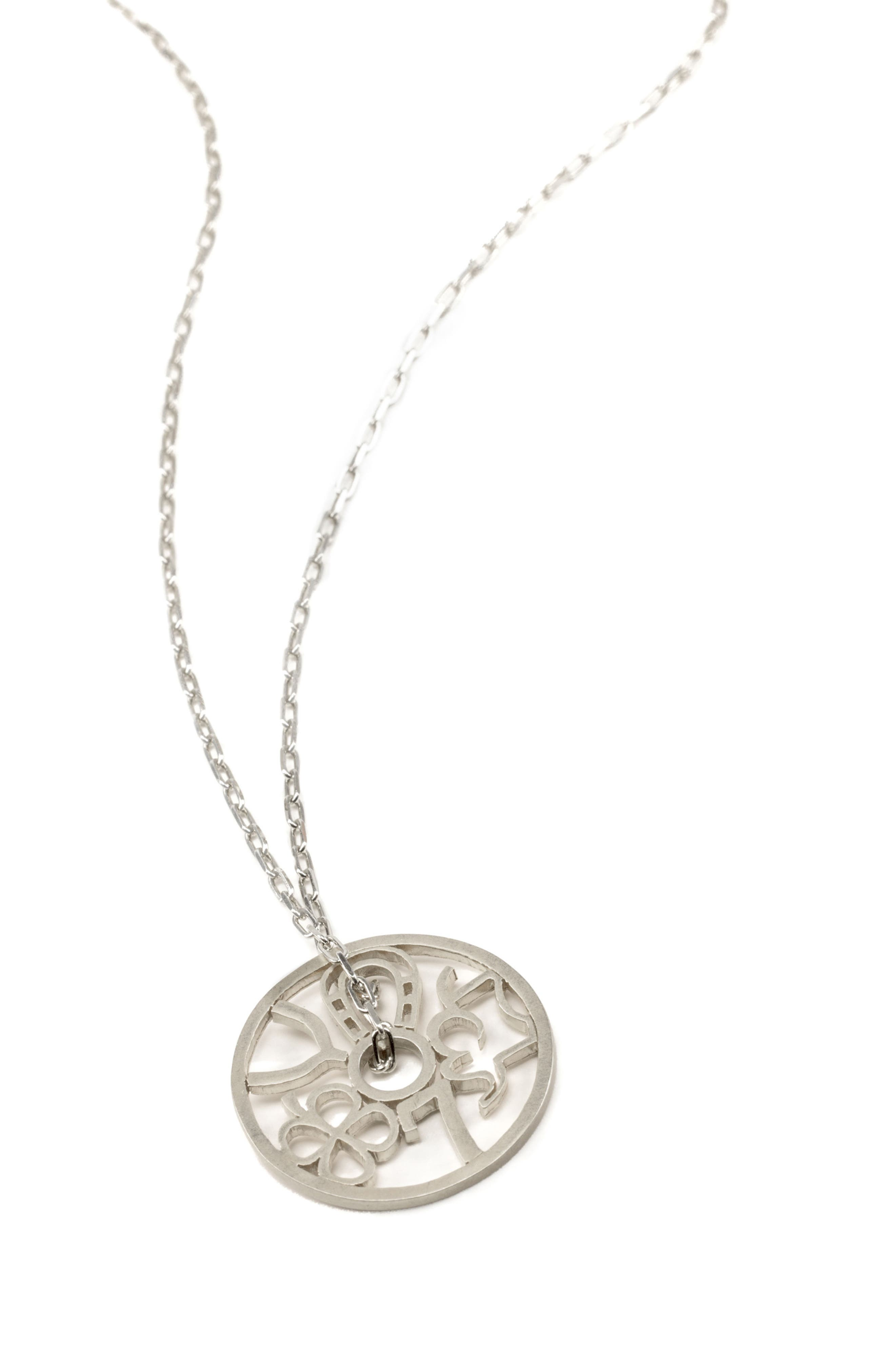 Petalbox Wheel of Fortune Pendant Necklace,                             Alternate thumbnail 3, color,                             040
