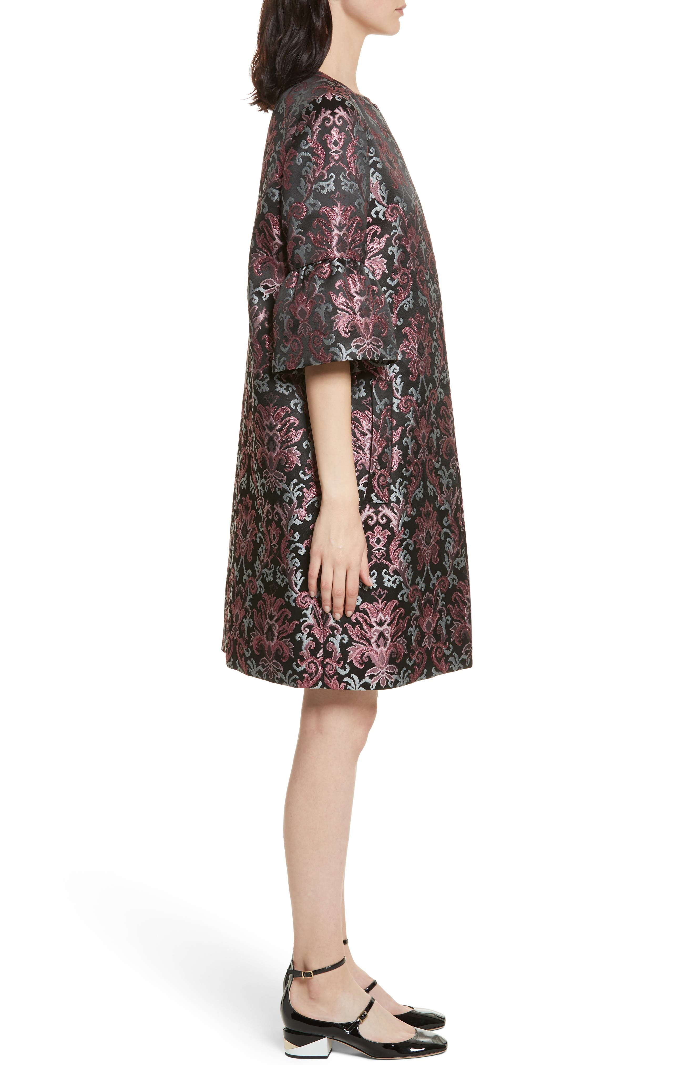 tapestry jacquard coat,                             Alternate thumbnail 3, color,                             004