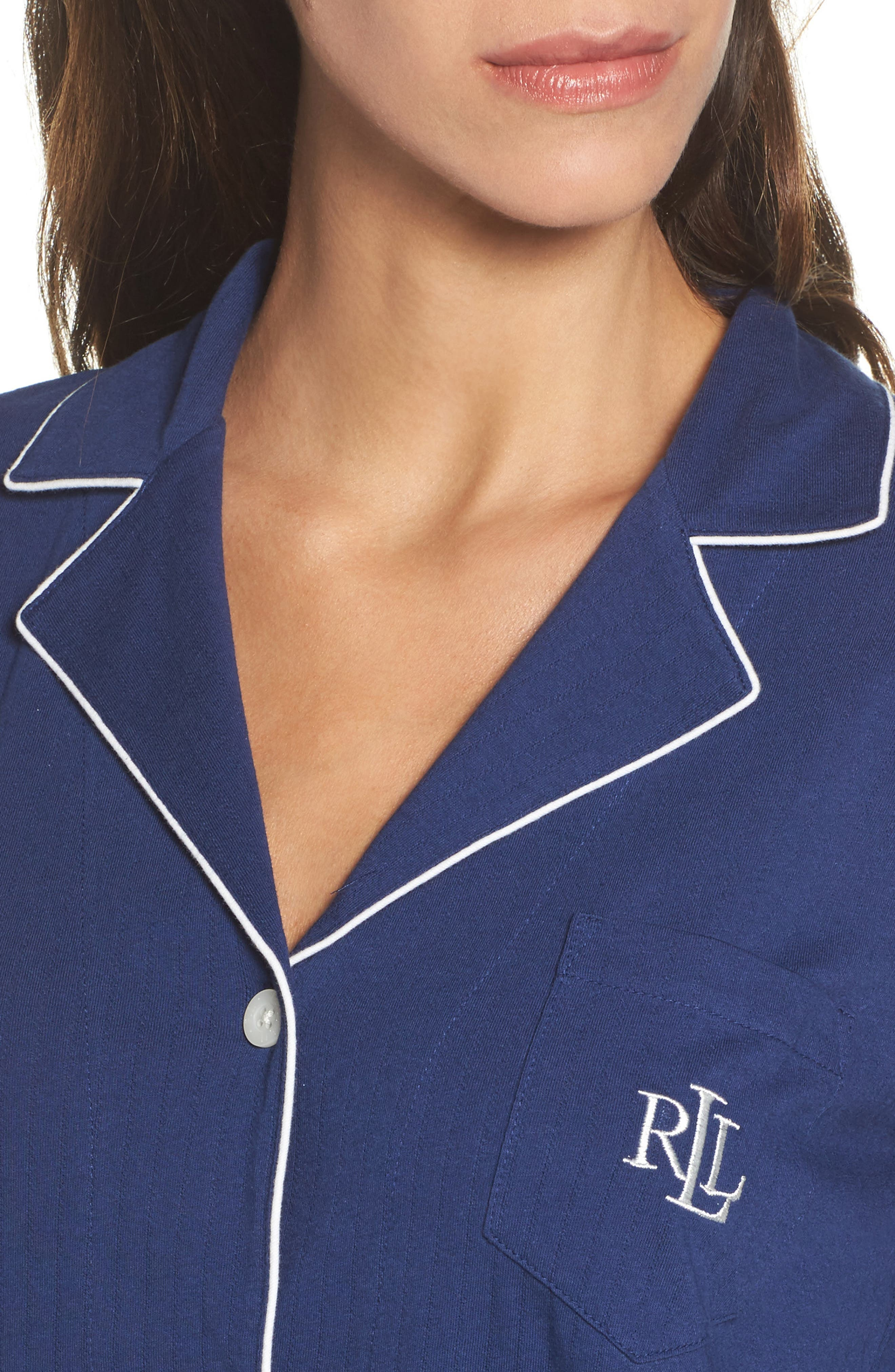 Notched Collar Pajamas,                             Alternate thumbnail 4, color,                             400