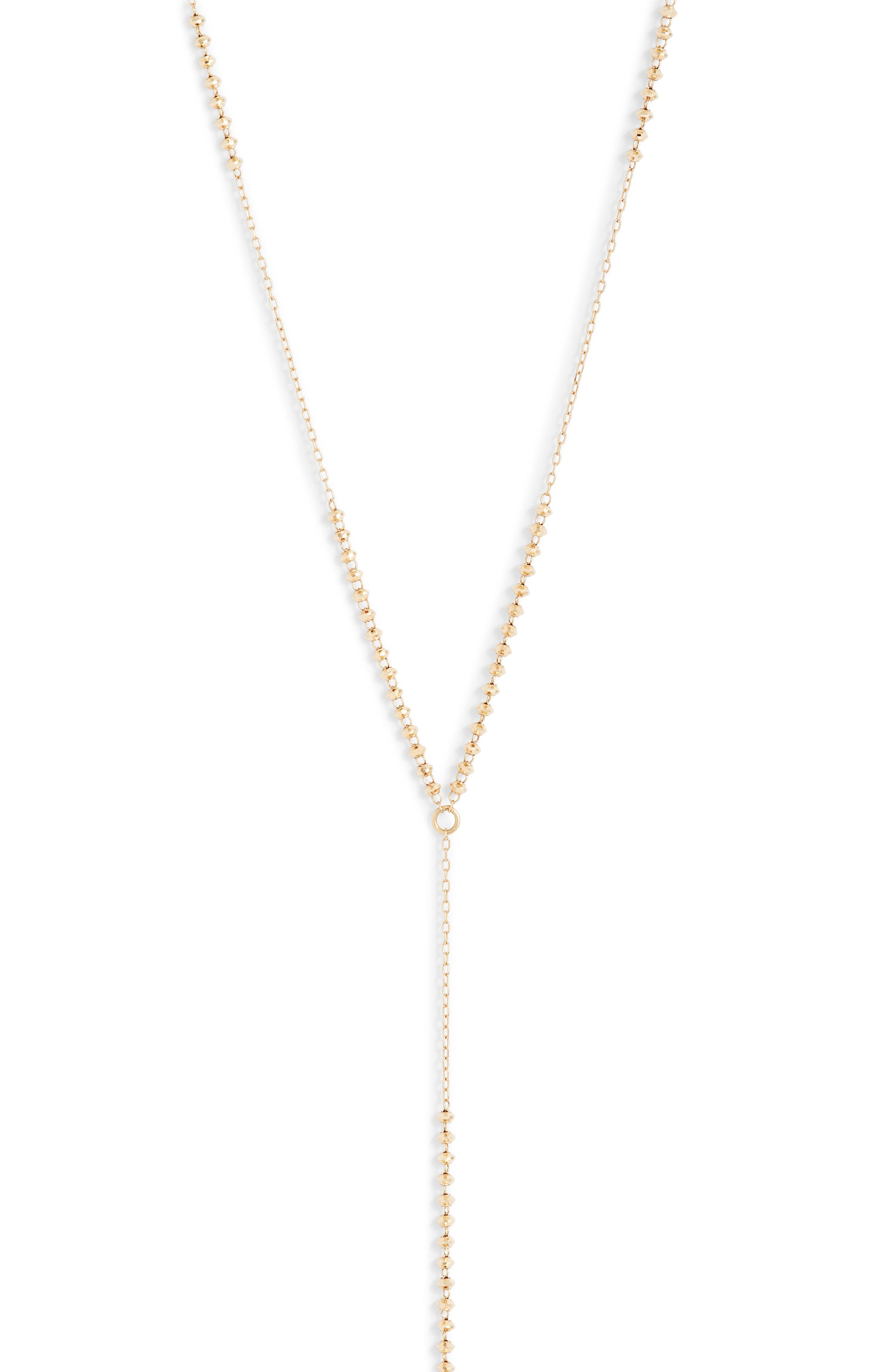 Shimmer Pearl Gold Y-Necklace,                             Alternate thumbnail 2, color,                             YELLOW GOLD