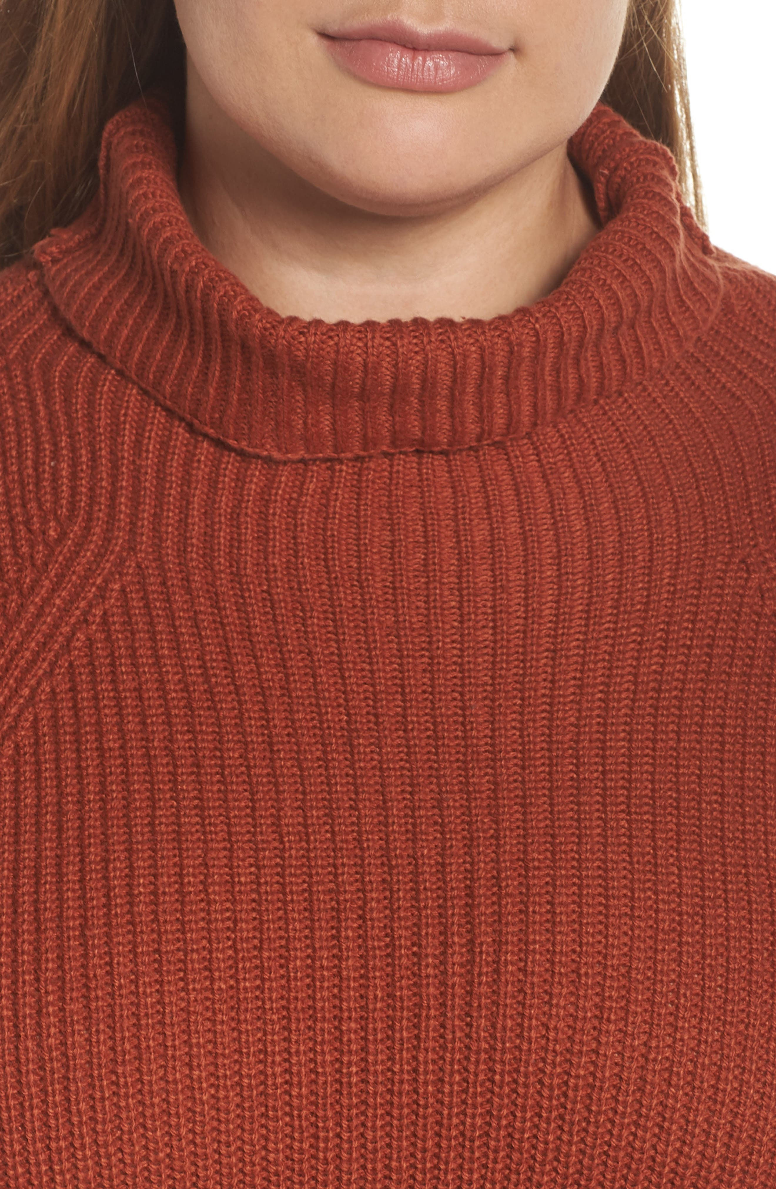 Transfer Stitch Turtleneck Sweater,                             Alternate thumbnail 10, color,                             BROWN SPICE