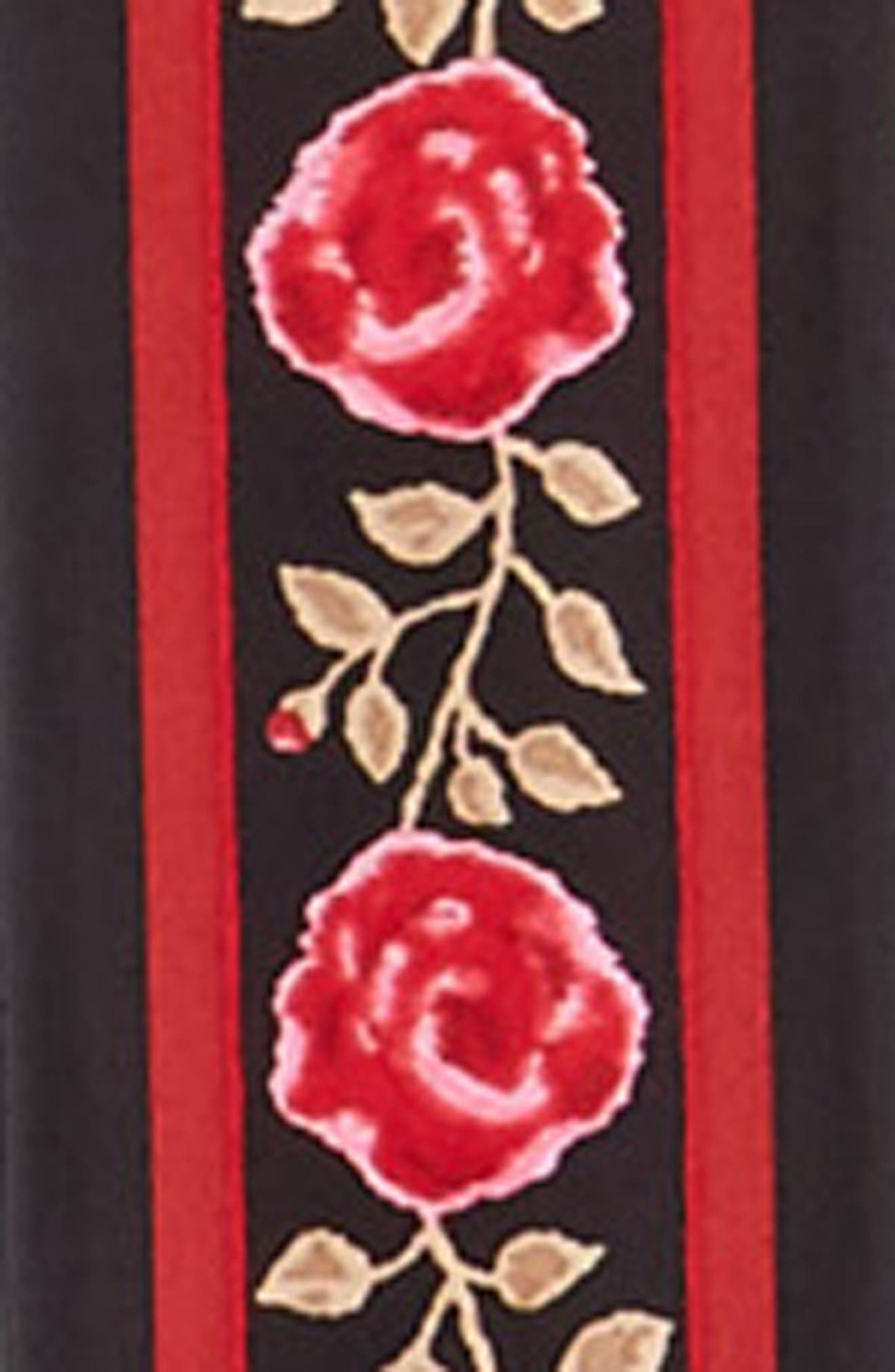 blurry rose skinny silk scarf,                             Alternate thumbnail 3, color,                             001