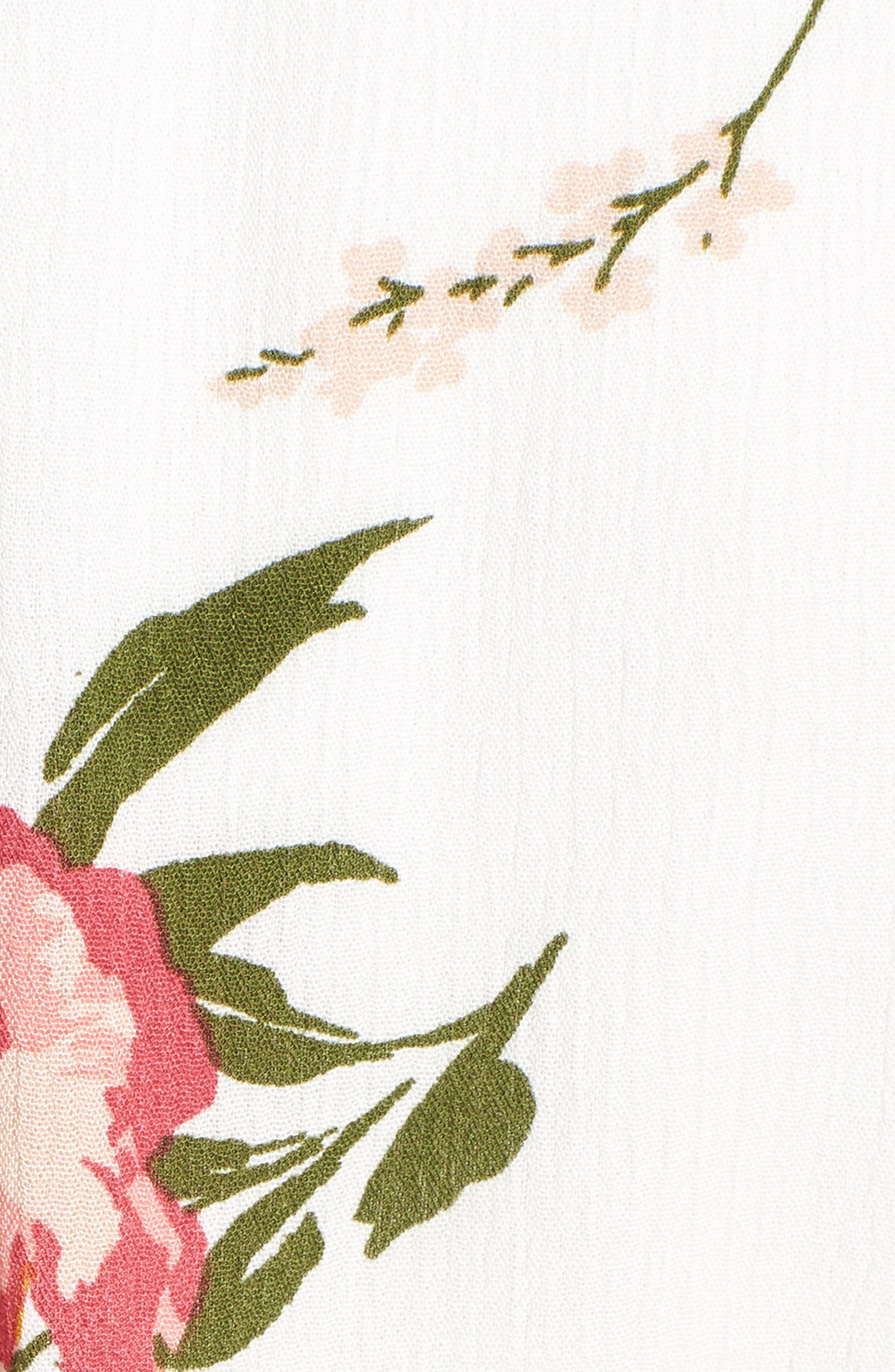 Sleeveless Blouson Midi Dress,                             Alternate thumbnail 6, color,                             900
