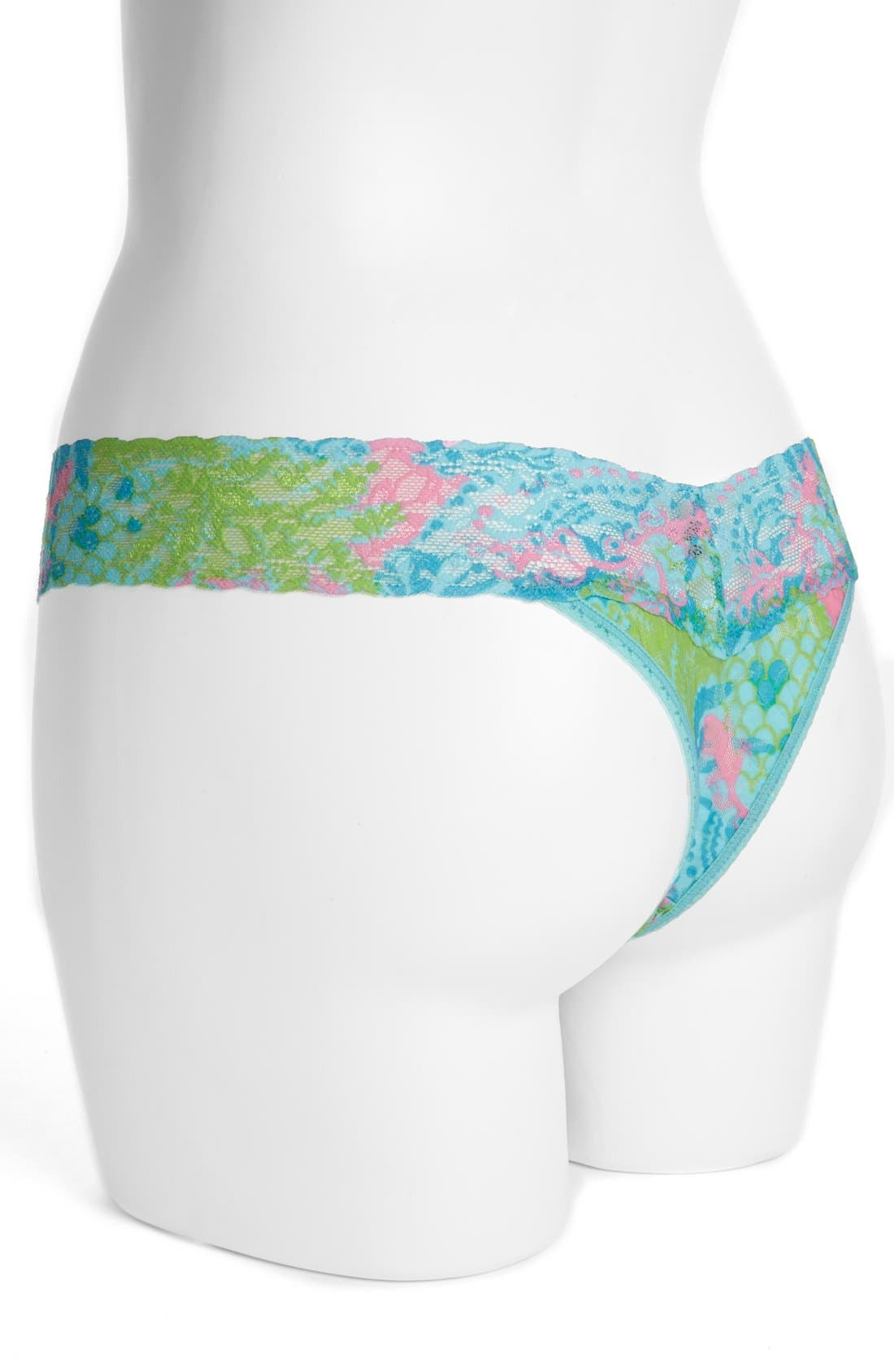 HANKY PANKY,                             x Lilly Pulitzer<sup>®</sup> 'Checking In' Low Rise Thong,                             Alternate thumbnail 3, color,                             305
