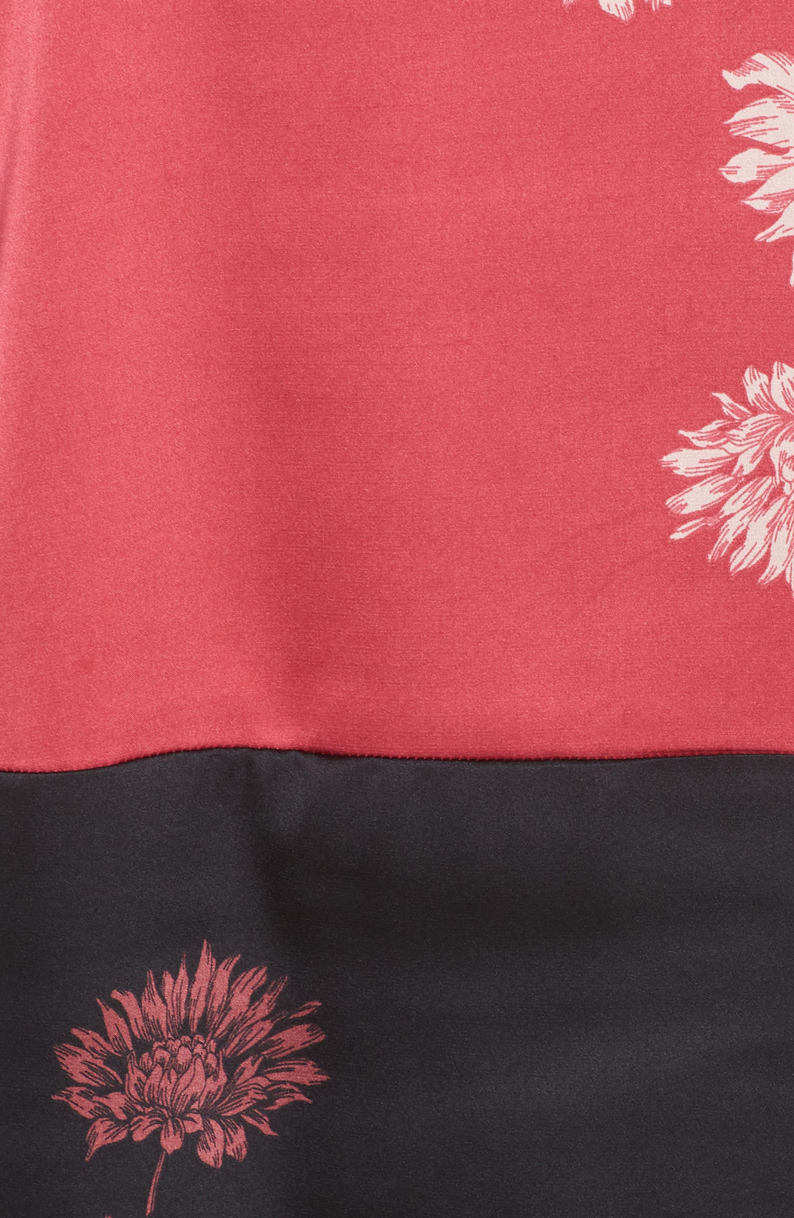Chateau Floral Print Top,                             Alternate thumbnail 5, color,                             PINK ROSE