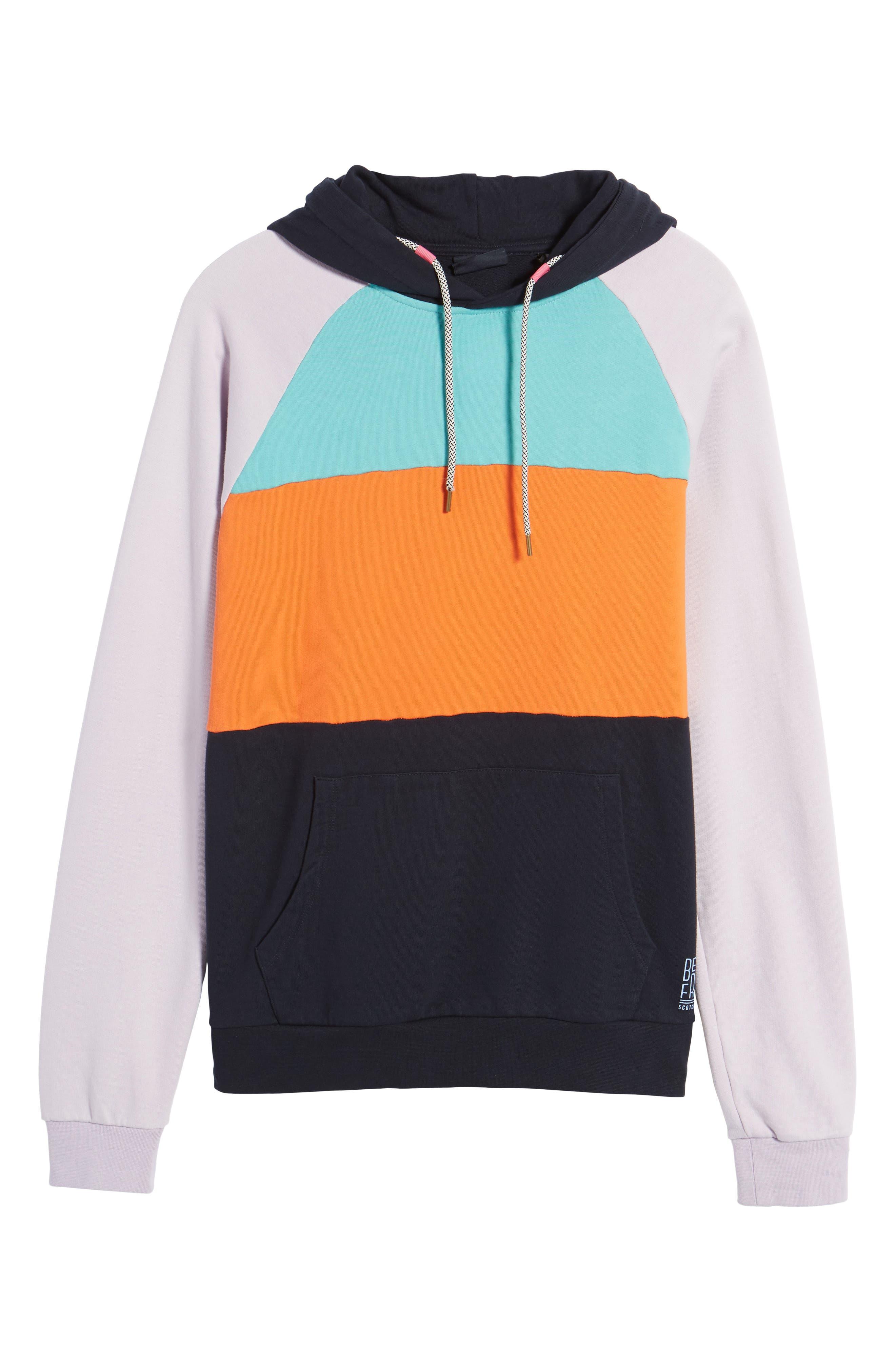 Summer Colorblock Hoodie Sweatshirt,                             Alternate thumbnail 6, color,                             100