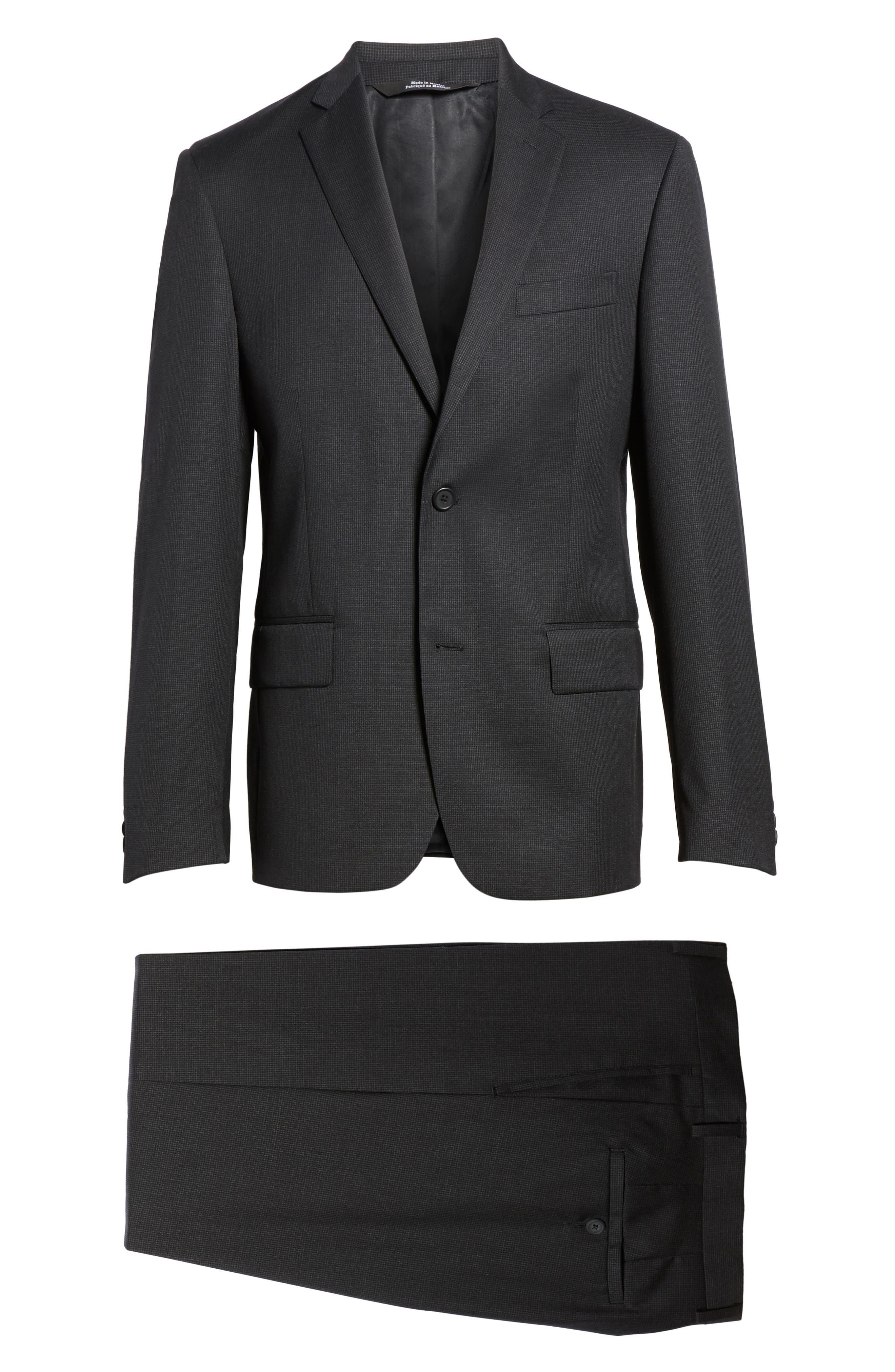 Classic Fit Check Wool Suit,                             Alternate thumbnail 29, color,