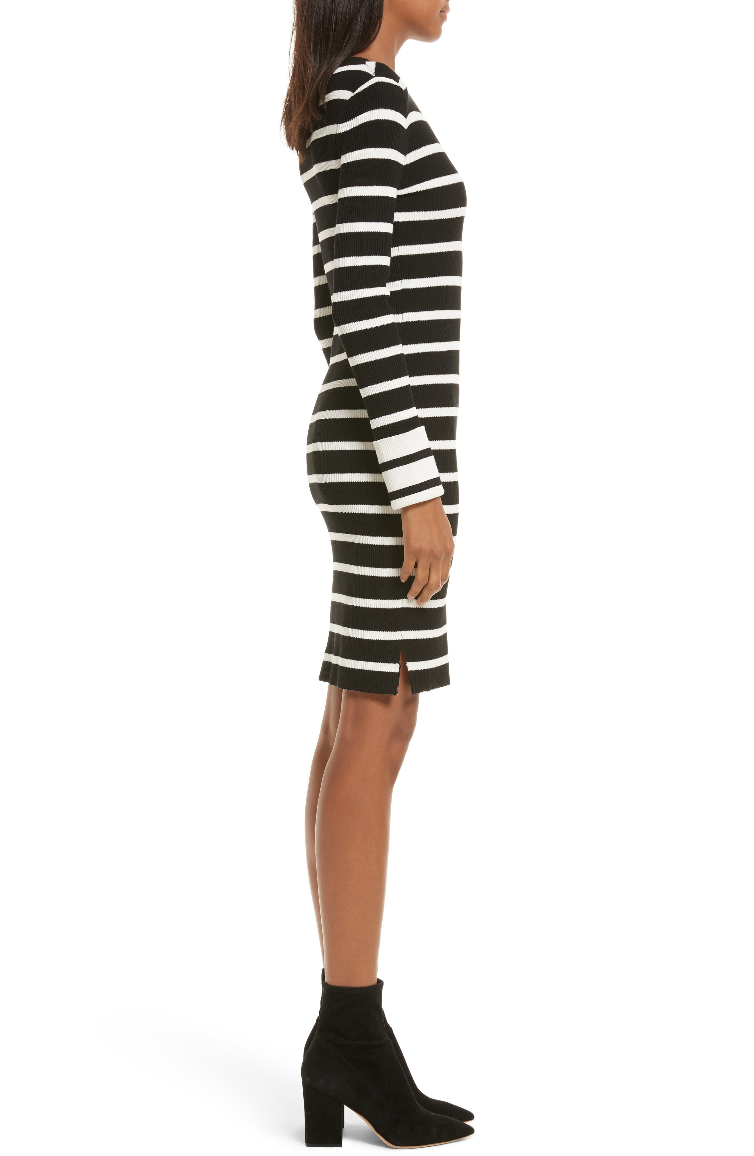 Prosecco Stripe Knit Dress,                             Alternate thumbnail 3, color,                             016