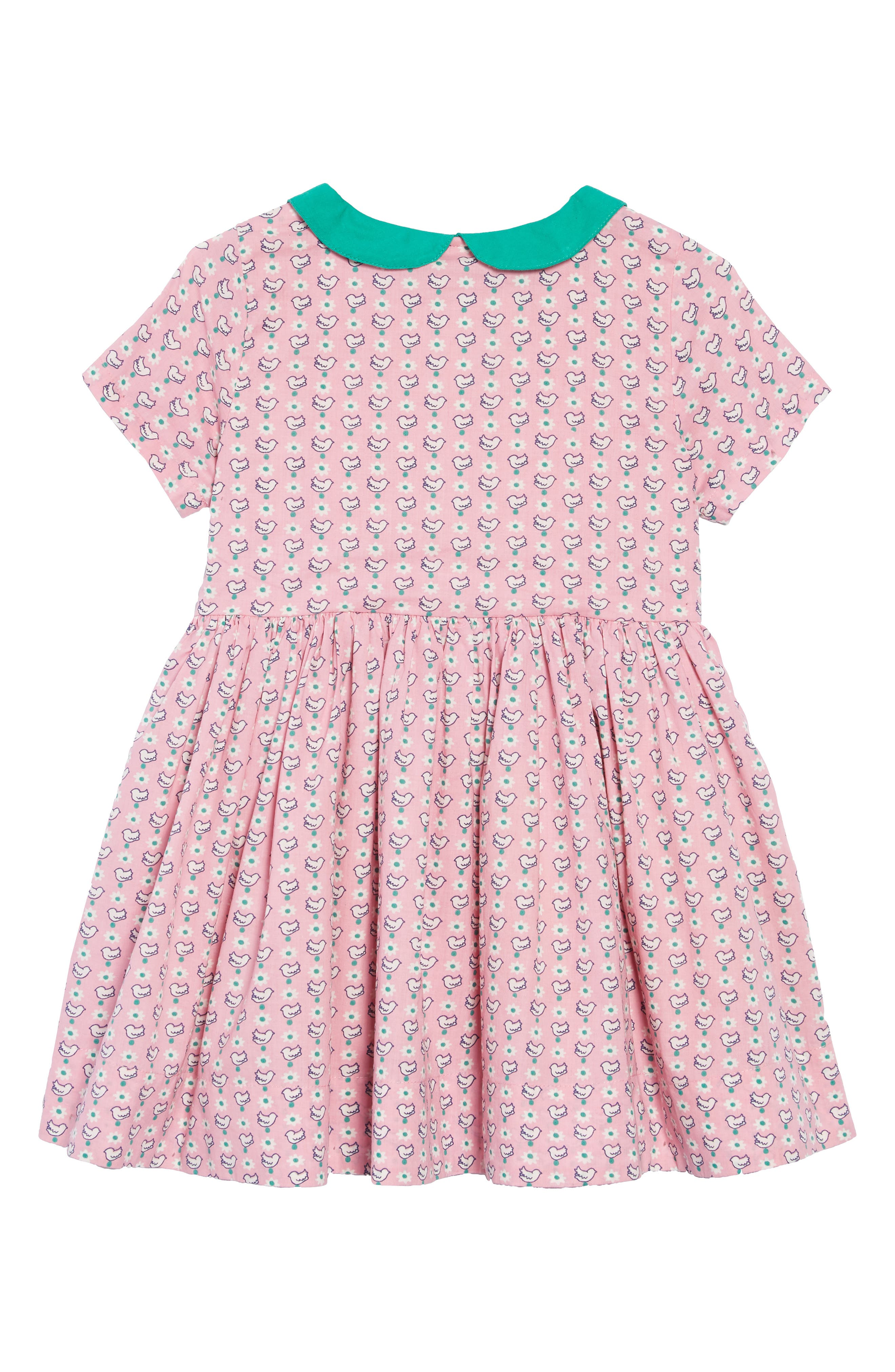 Nostalgic Collared Dress,                             Alternate thumbnail 2, color,                             FORMICA PINK GEO BIRDS