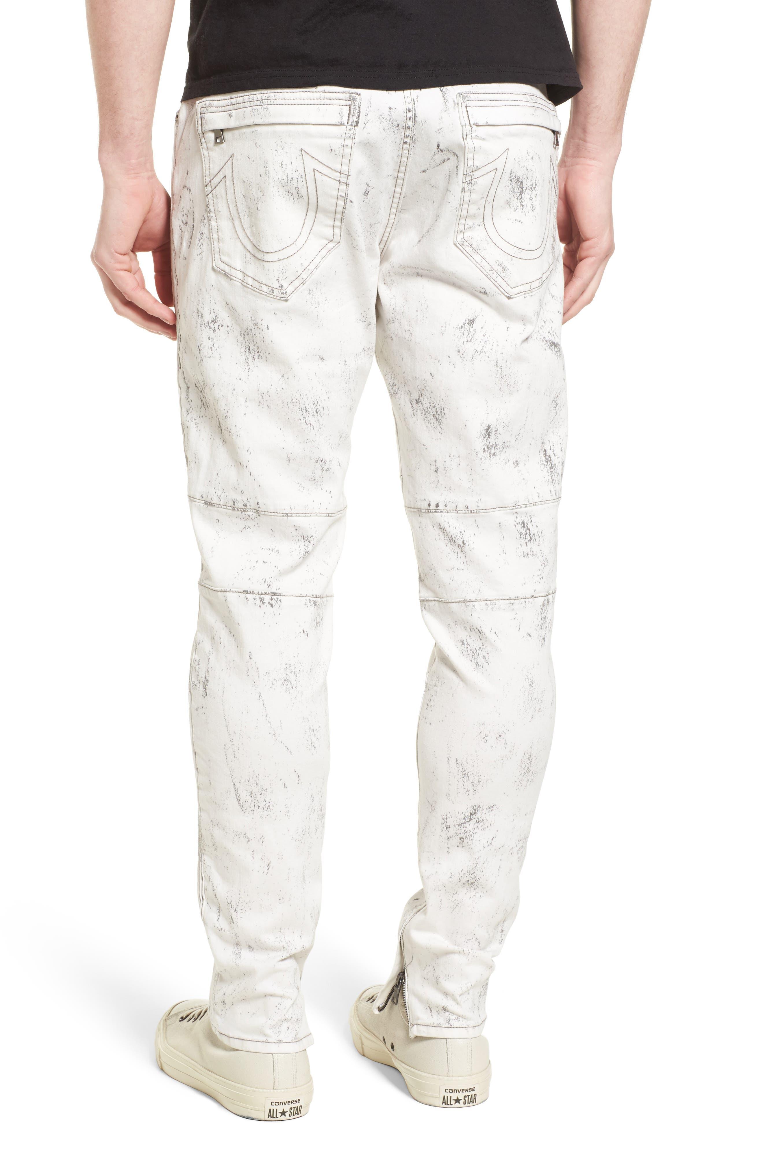 True Religion Racer Skinny Fit Jeans,                             Alternate thumbnail 2, color,                             BLACK SAND