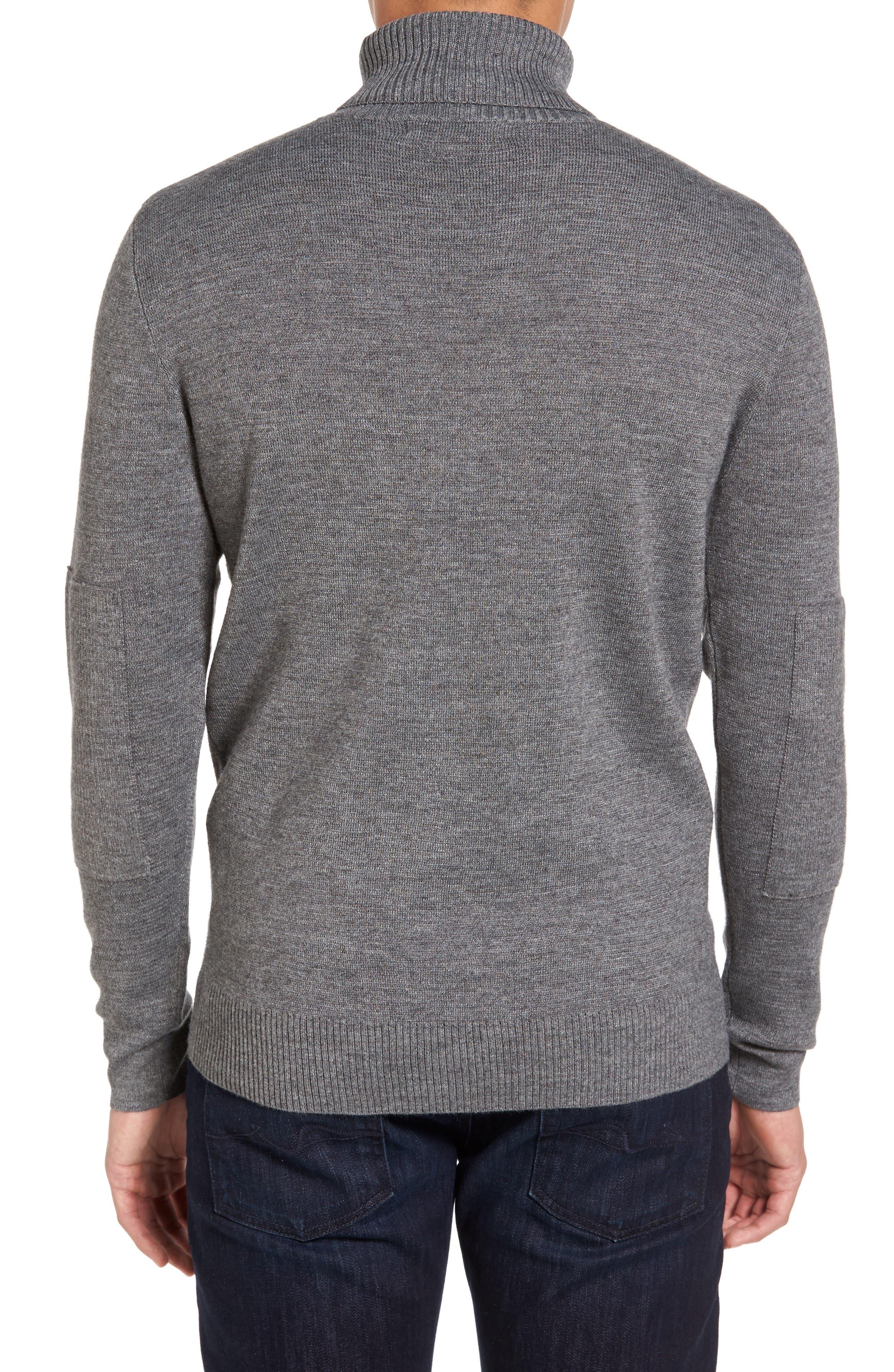 Merino Wool Blend Turtleneck Sweater,                             Alternate thumbnail 2, color,                             020