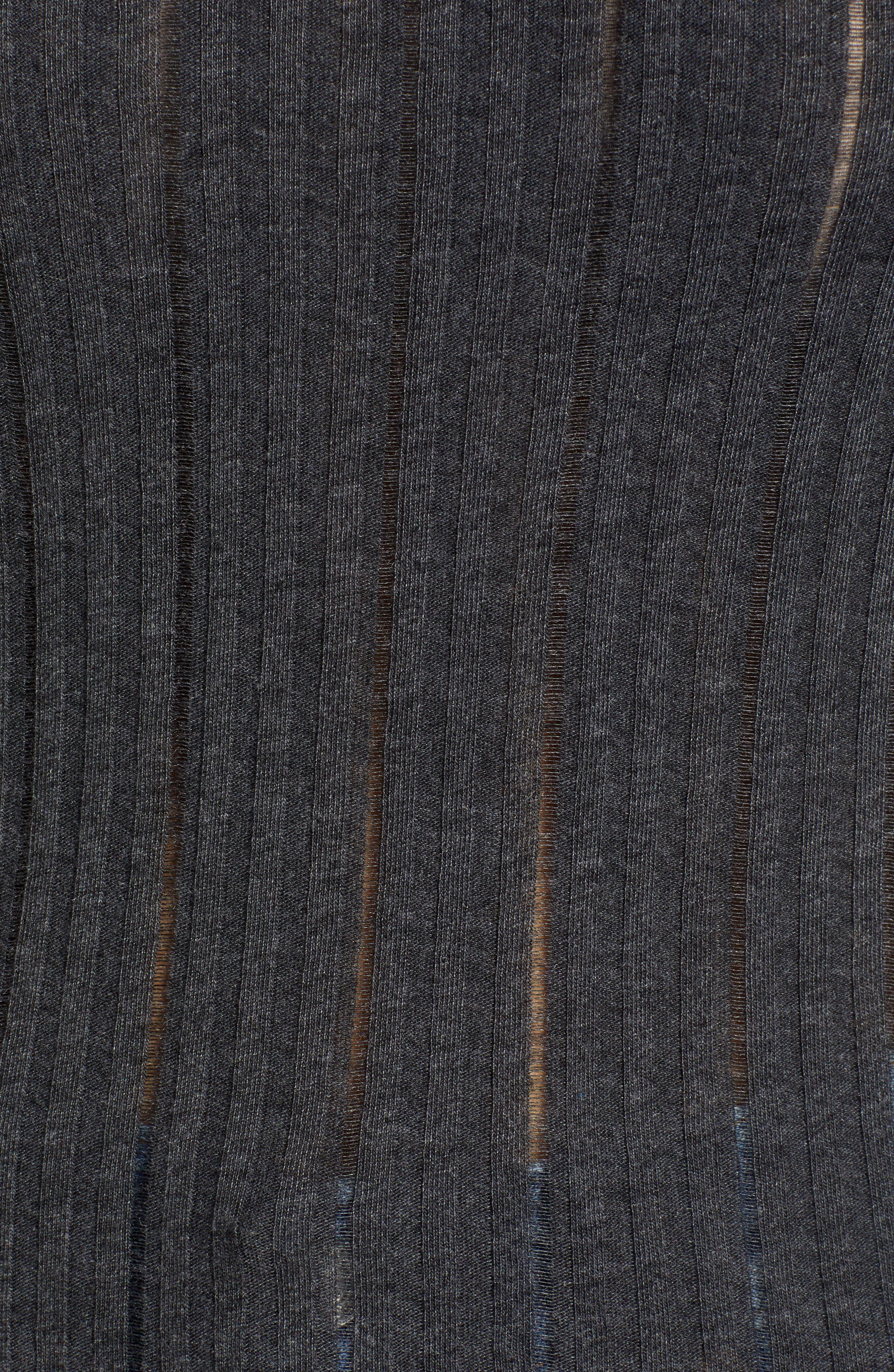 Tyne Ribbed Tee,                             Alternate thumbnail 5, color,                             001