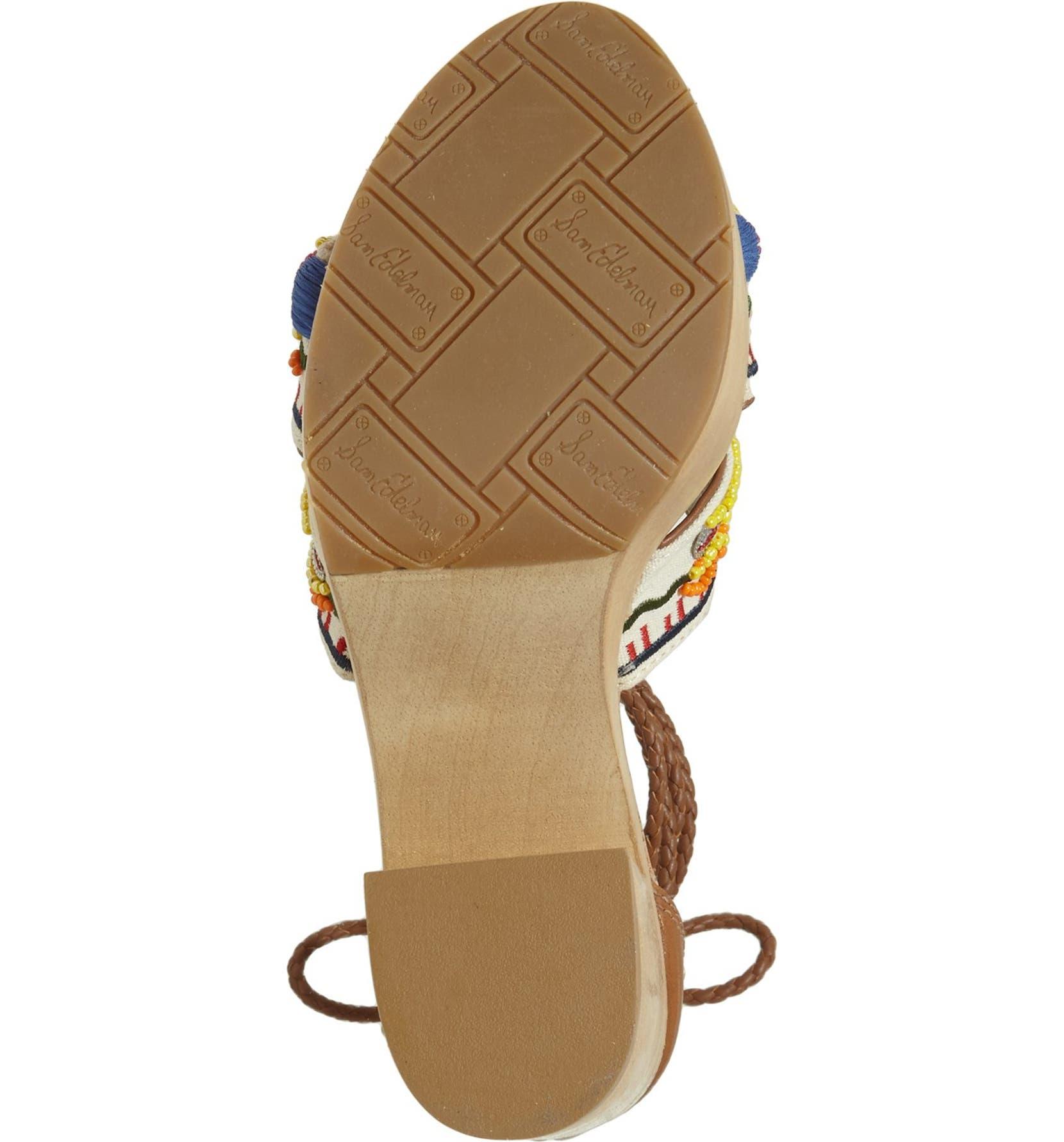 94f9f2081b2 Sam Edelman  Mel  Ankle Wrap Platform Sandal (Women)