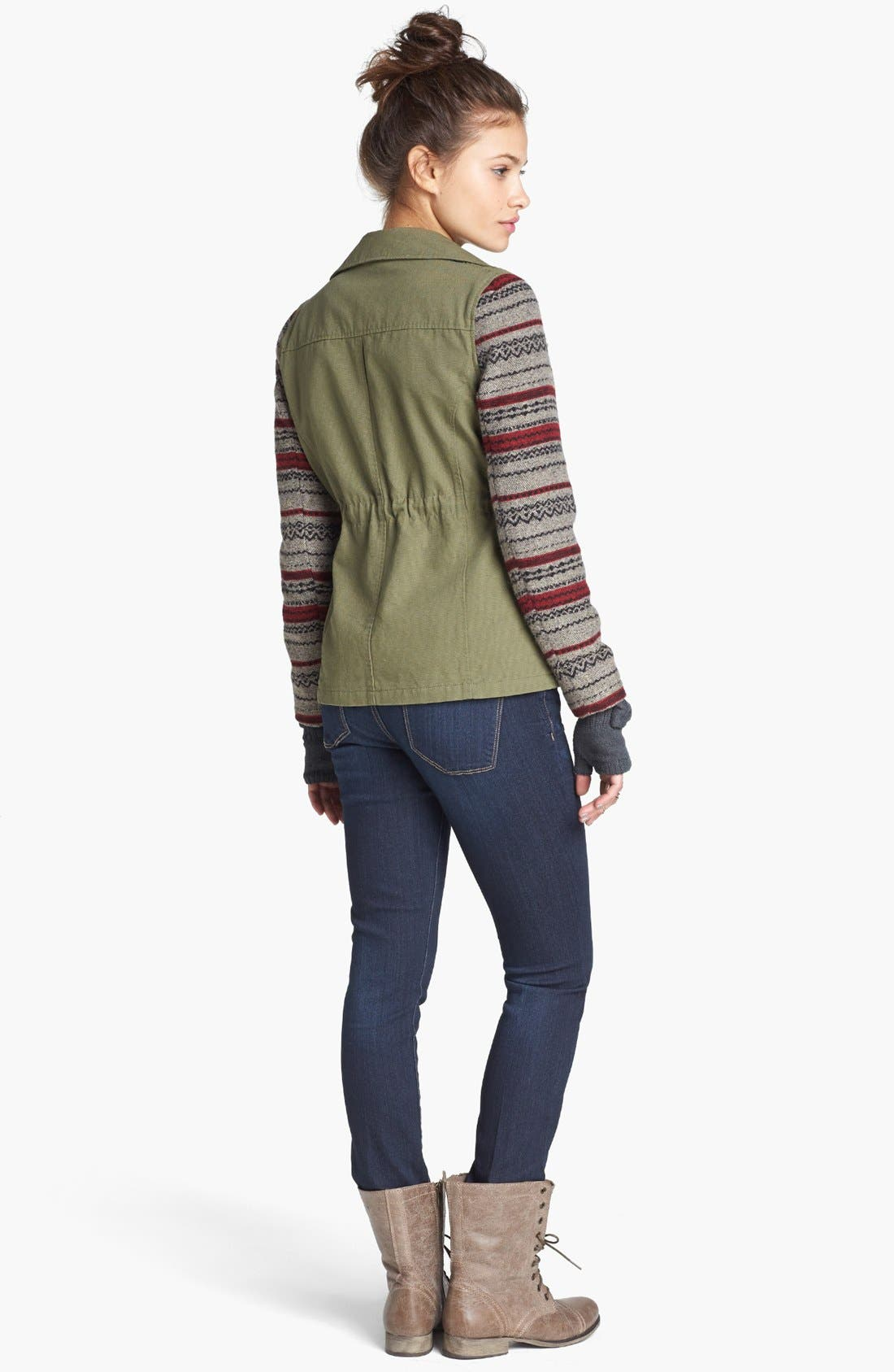'Grunge' Textured Sweater,                             Alternate thumbnail 16, color,