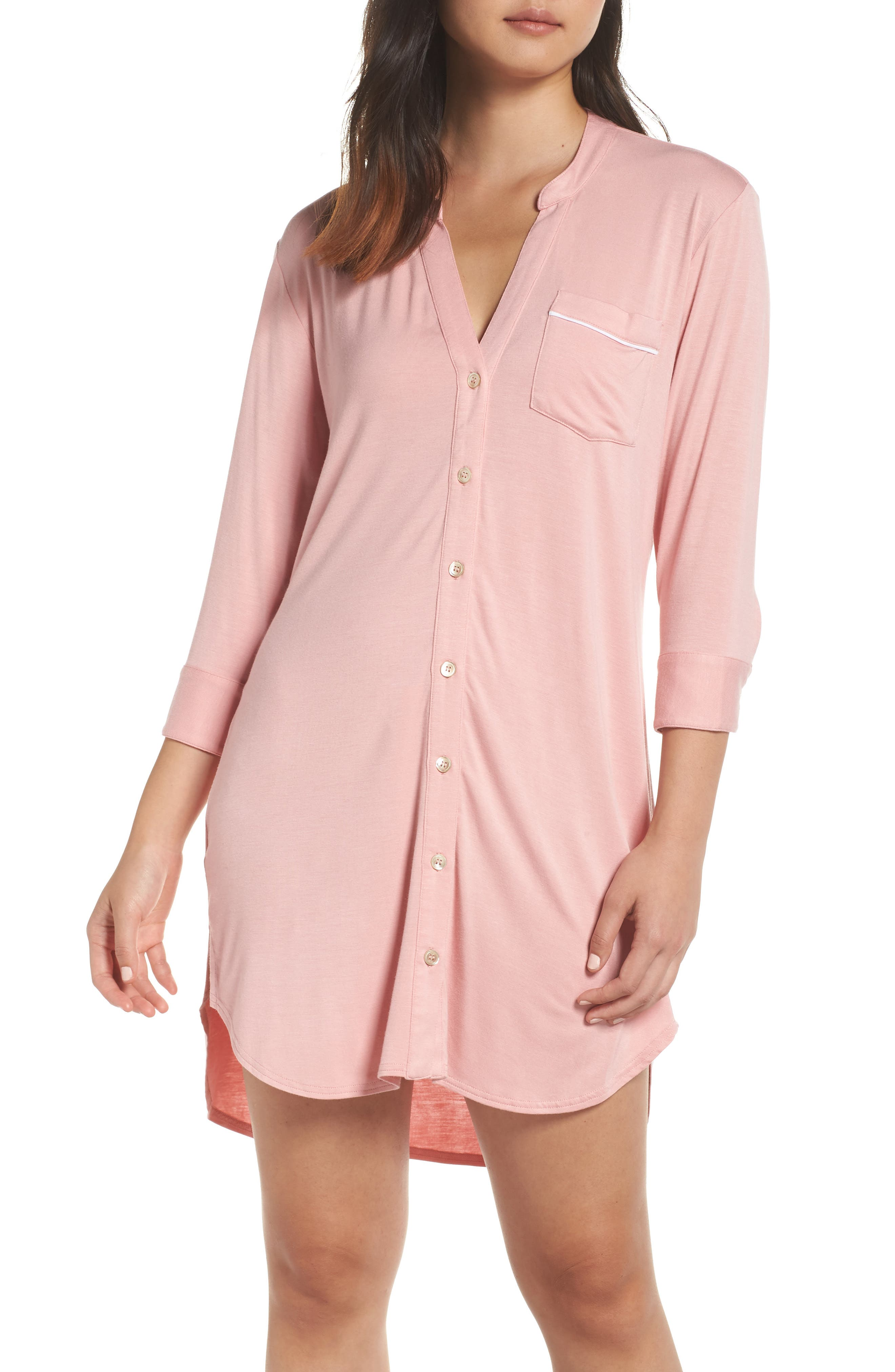 Vivian Jersey Sleepshirt in Pink Dawn