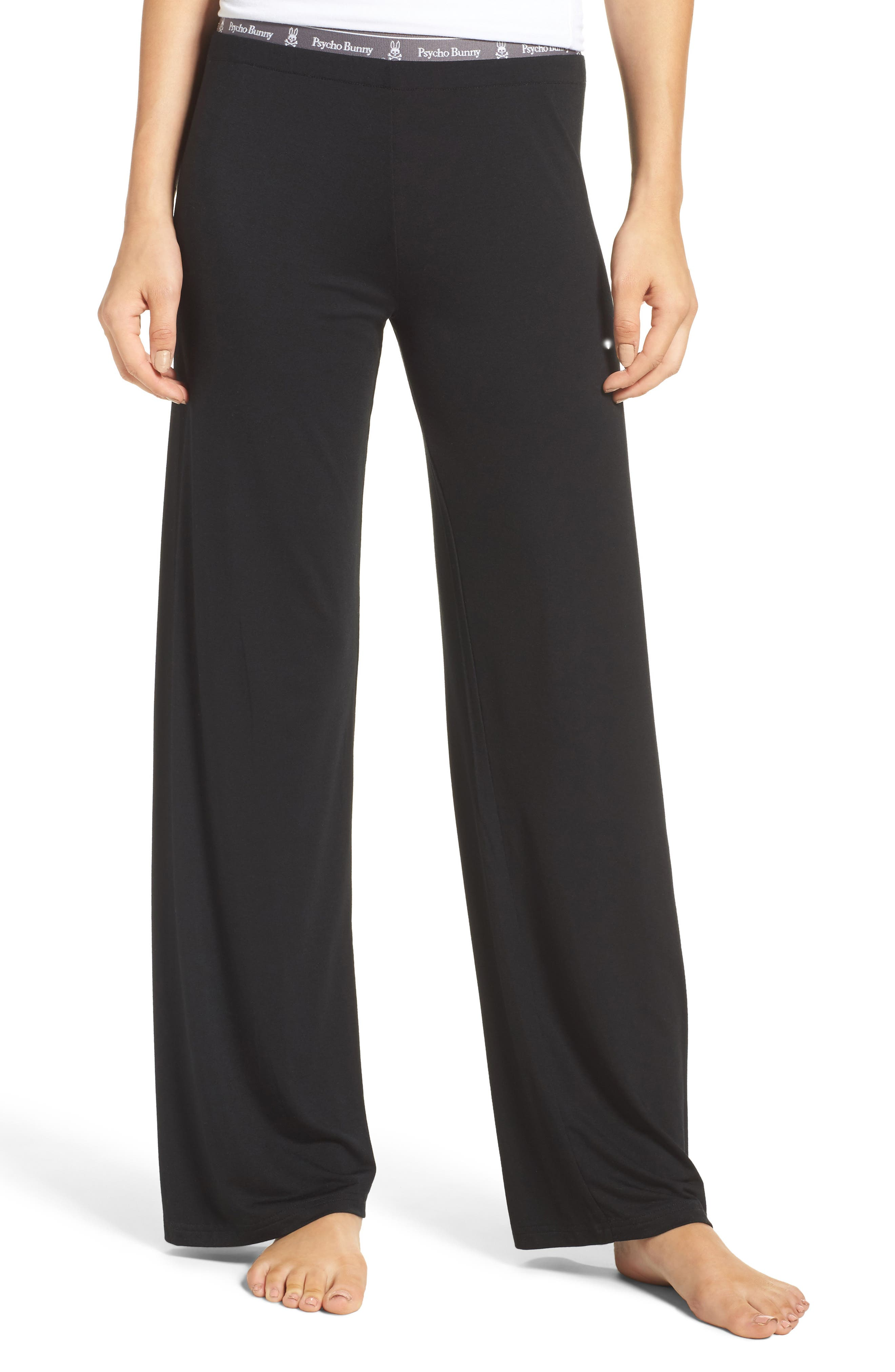 Luxe Jersey Pants,                         Main,                         color, 001