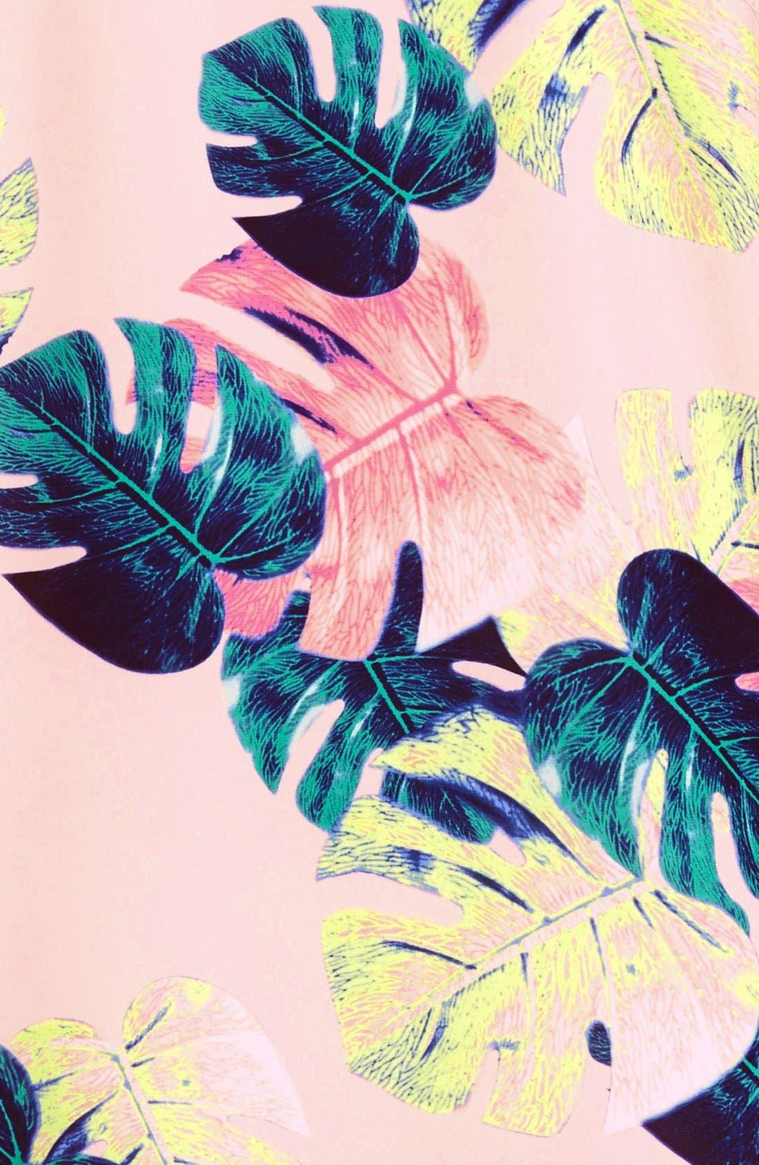 Palm Leaf Dress,                             Alternate thumbnail 4, color,                             200