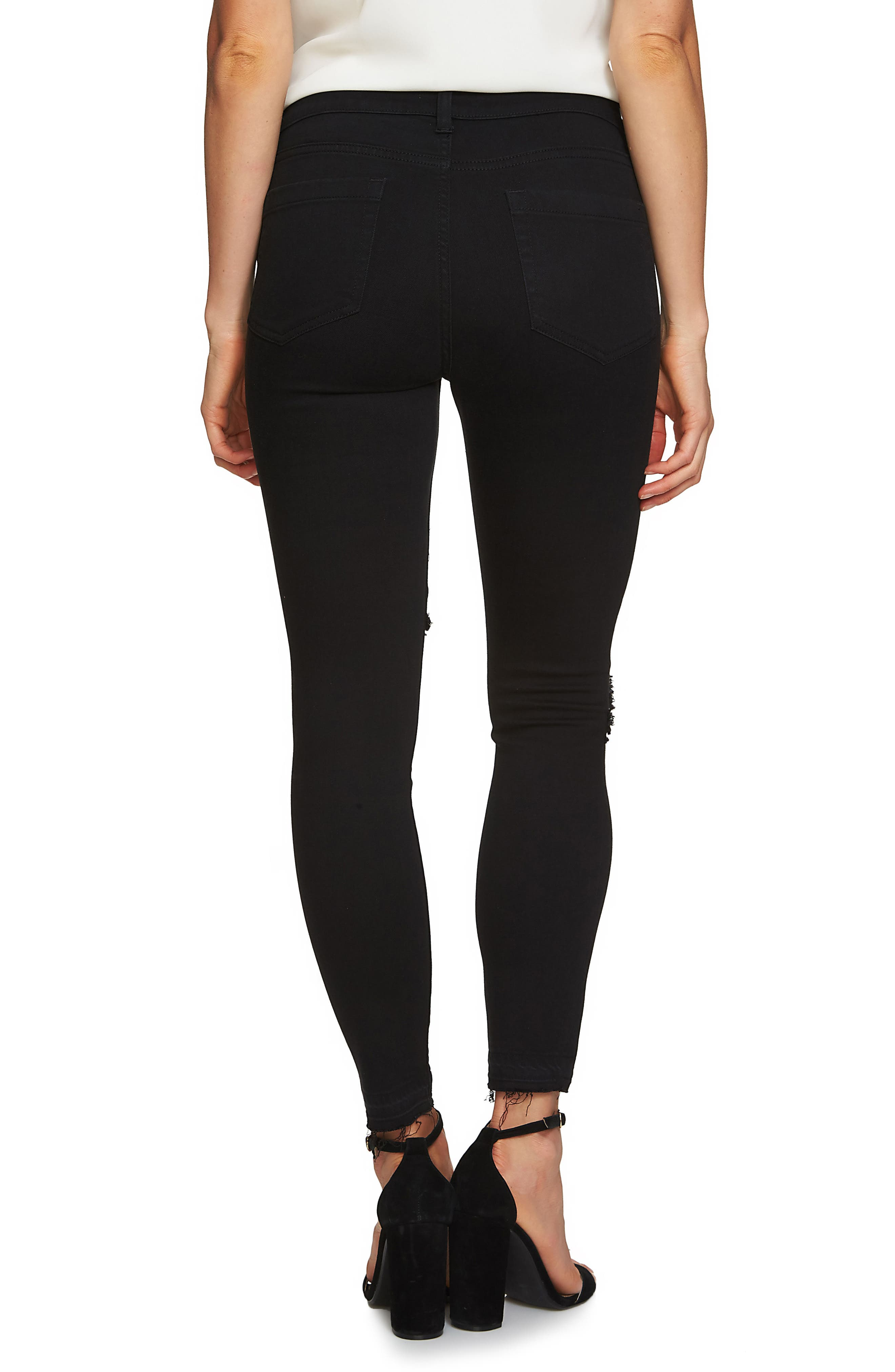 Frayed Skinny Jeans,                             Alternate thumbnail 3, color,                             433